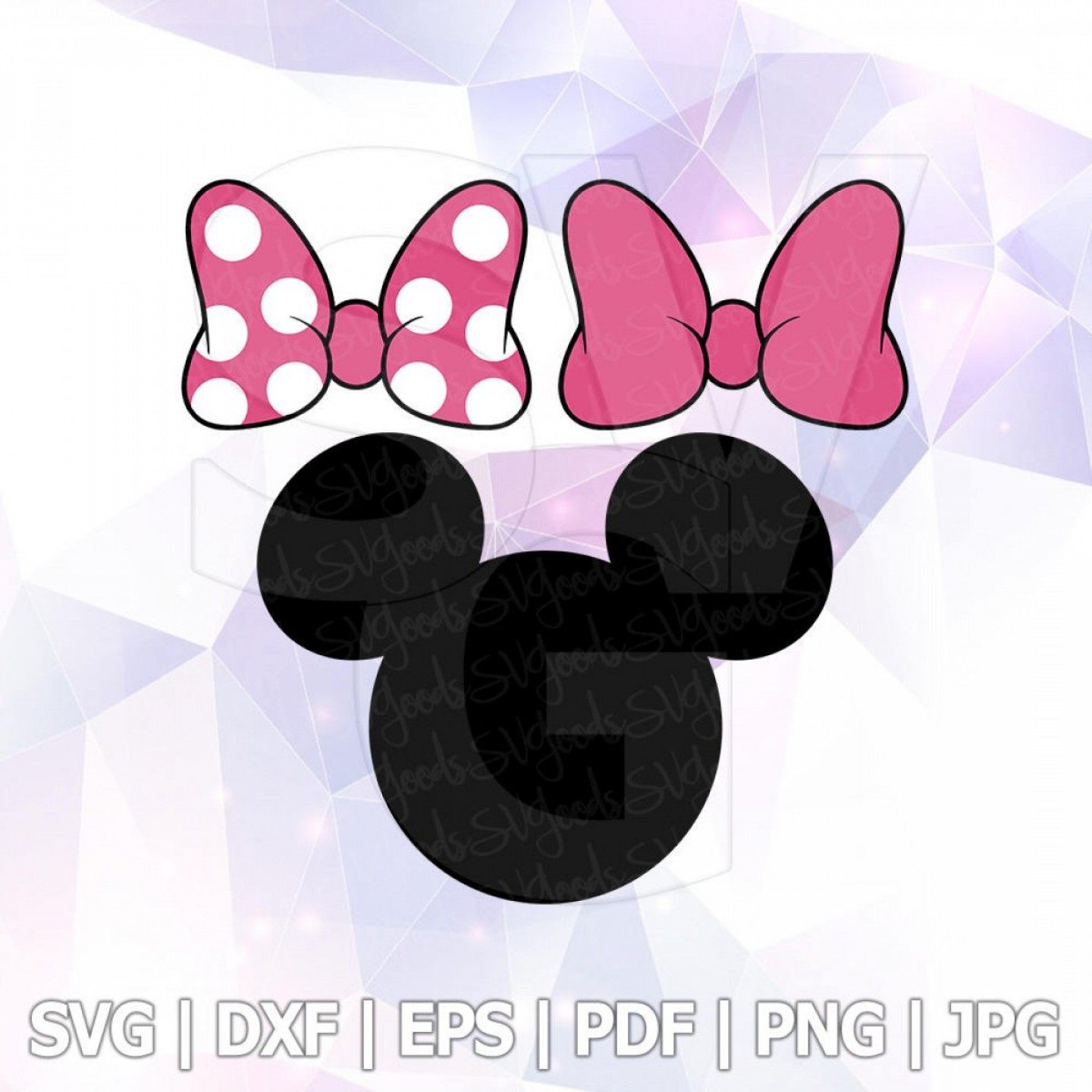 Minnie Mouse Vector Clip Art: Svg Dxf Png Minnie Mouse Bow Clipart
