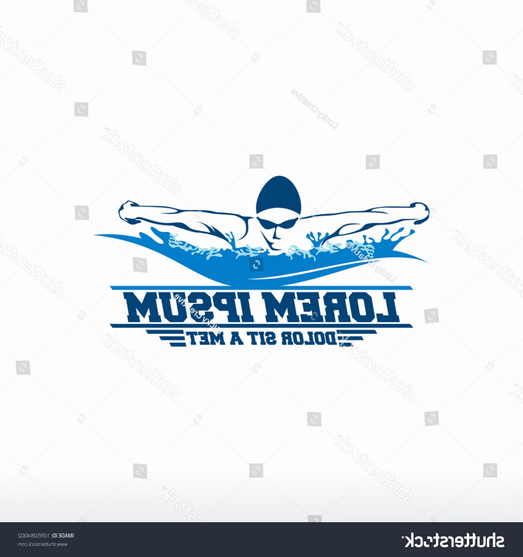Mets Logo Vector: Swimming Logo Designs Vector Creative Swimmer