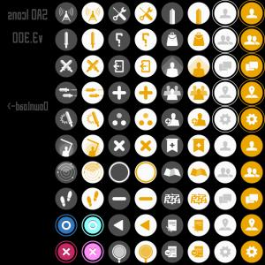 Vectors Buttons And Menus: Sword Art Online Vector Icons