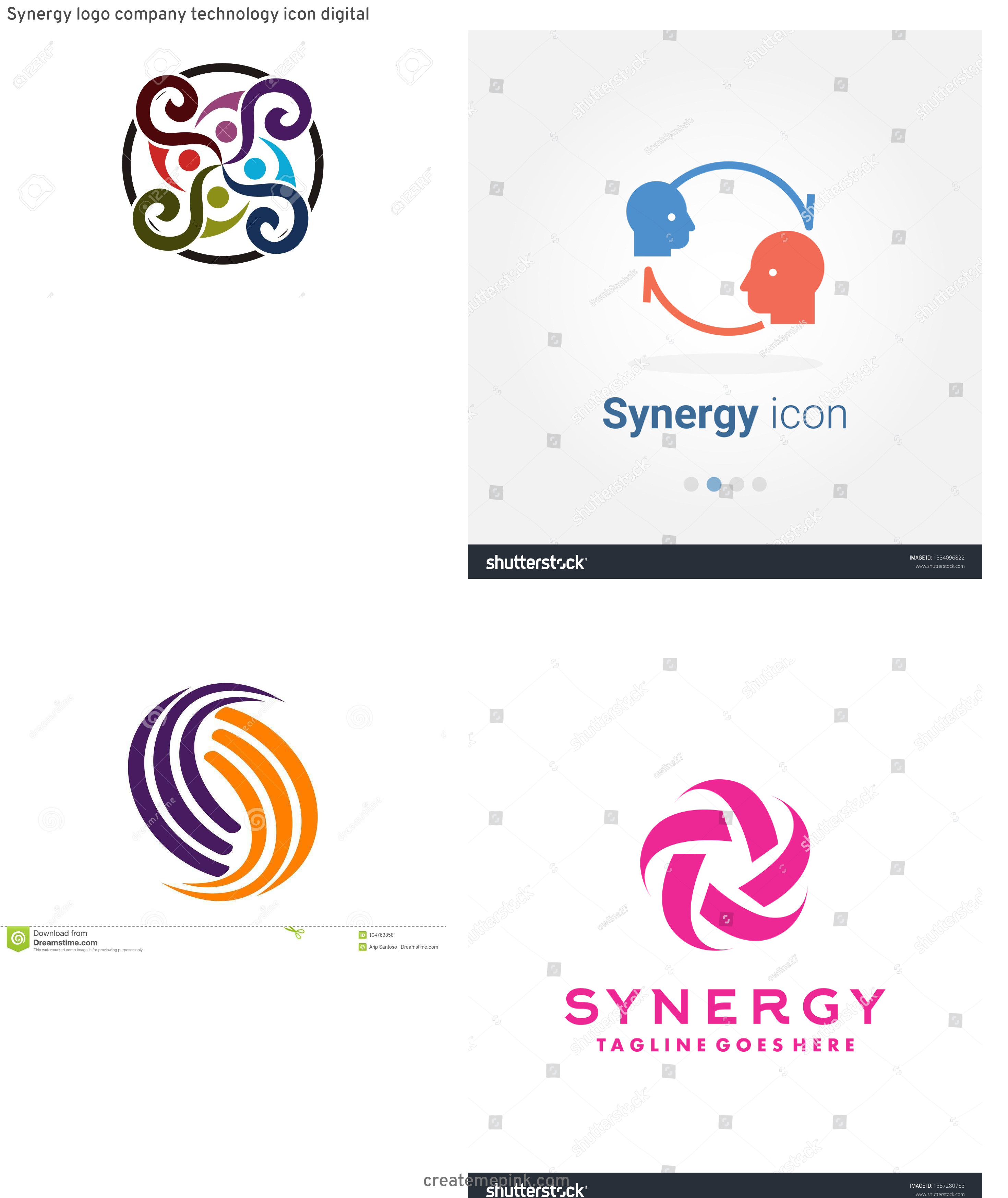Vector Synergy: Synergy Logo Company Technology Icon Digital