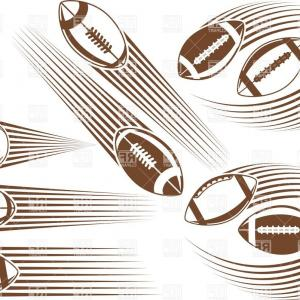 Free Football Vector Clip Art: Free Football Field Black And White Clipart