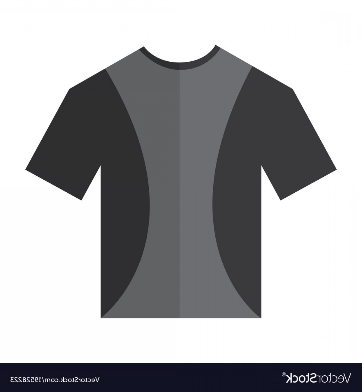 Vector Woman Black Crew Shirt: T Shirt Crew Neck Icon Image Vector