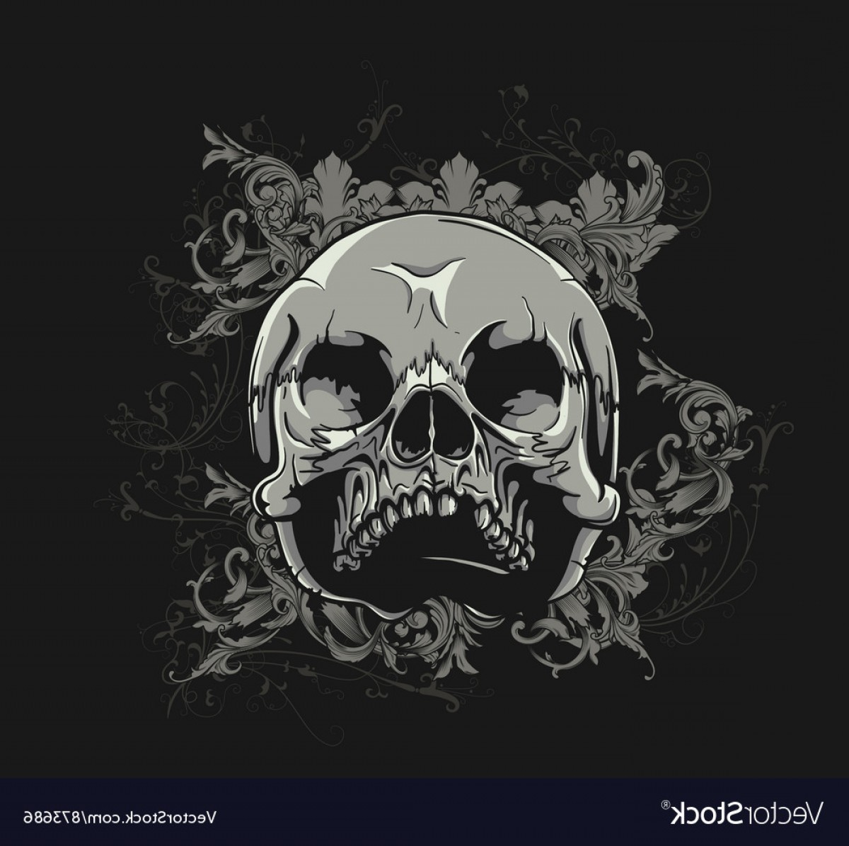 Skull Vector T-shirt Illustration: T Shirt Design With Skull Vector