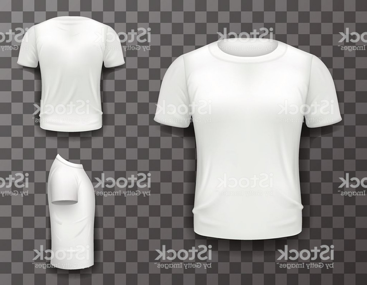 Vector Cancer Shirts: T Shirt Front Side Back View Template Realistic D Design Gm