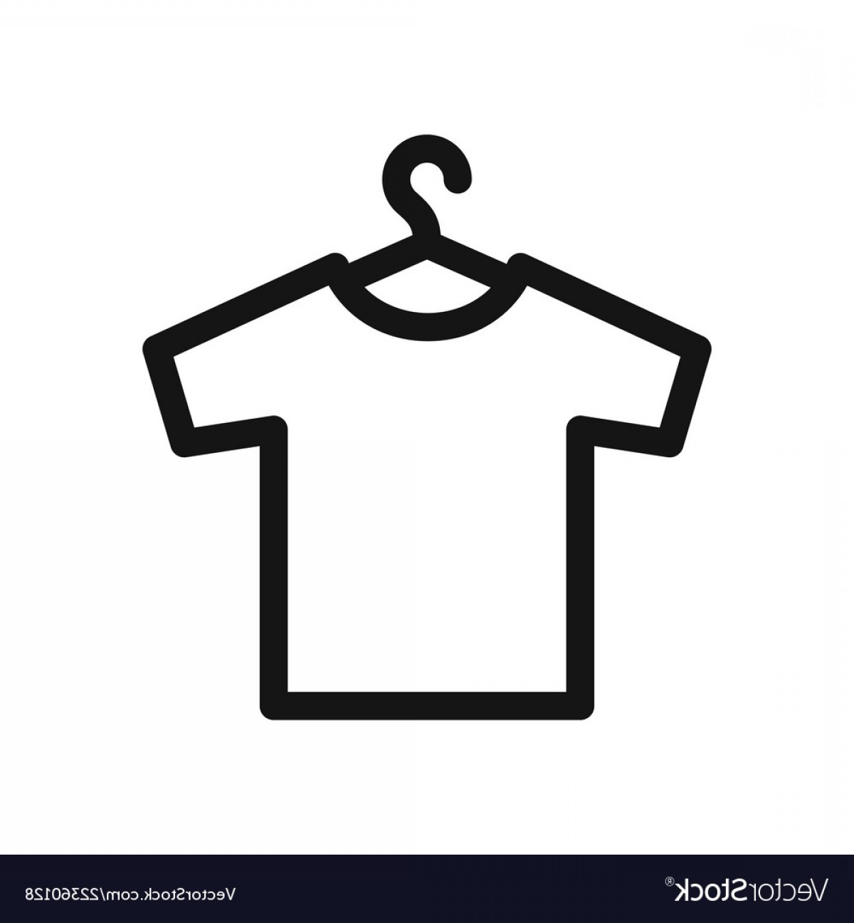 Shirt Hanger Icon Vector: T Shirt On Hangers Simple Outline Black Icon Vector