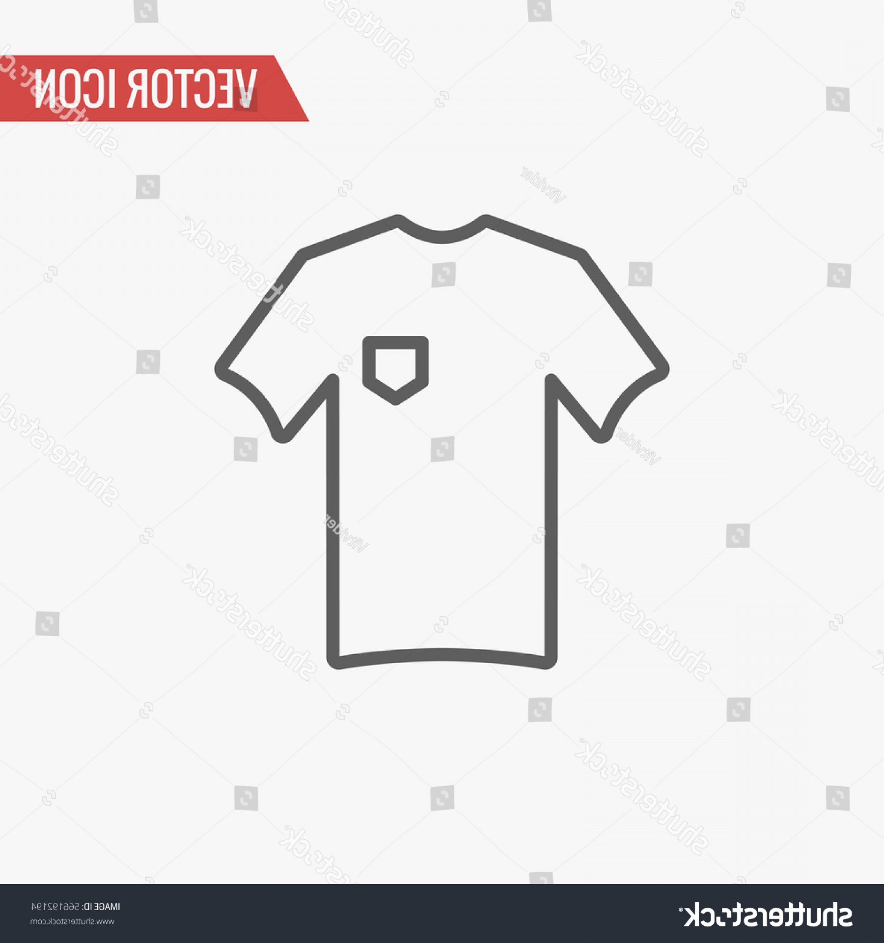 Vector Pocket Silhouette Shirt: T Shirt Pocket Icon Thin Line