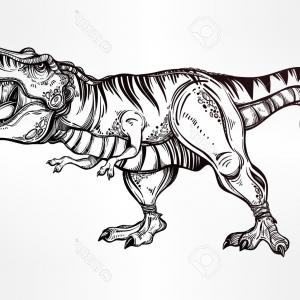 T-Rex Vector: T Rex Clipart Black And White