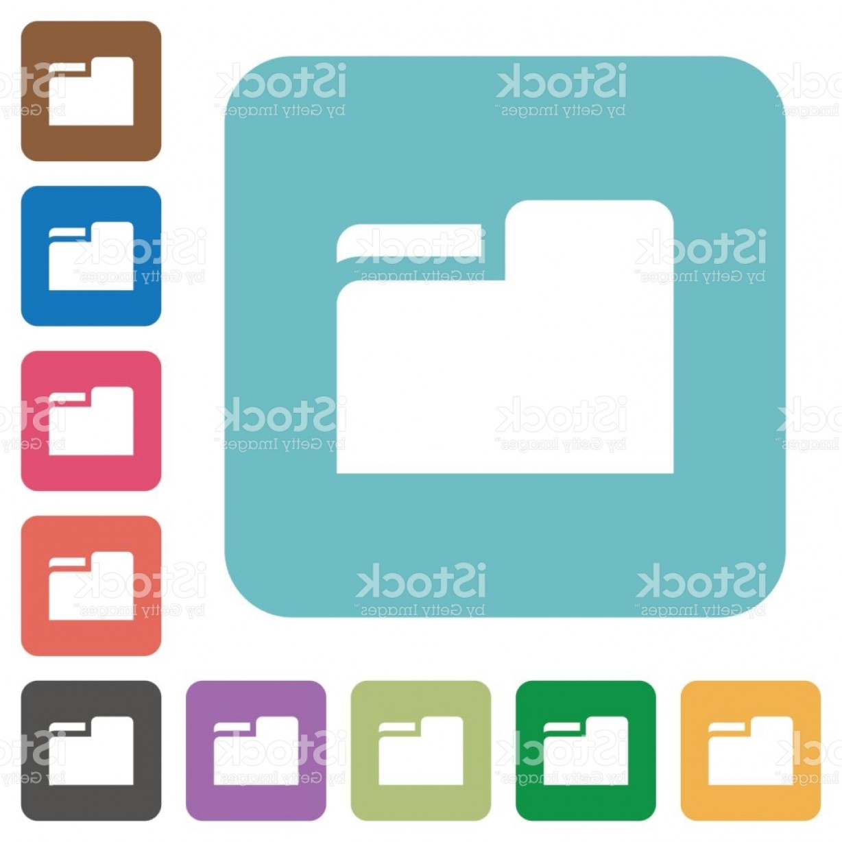 Folder Tab Vectors: Tab Folder Square Flat Icons Gm