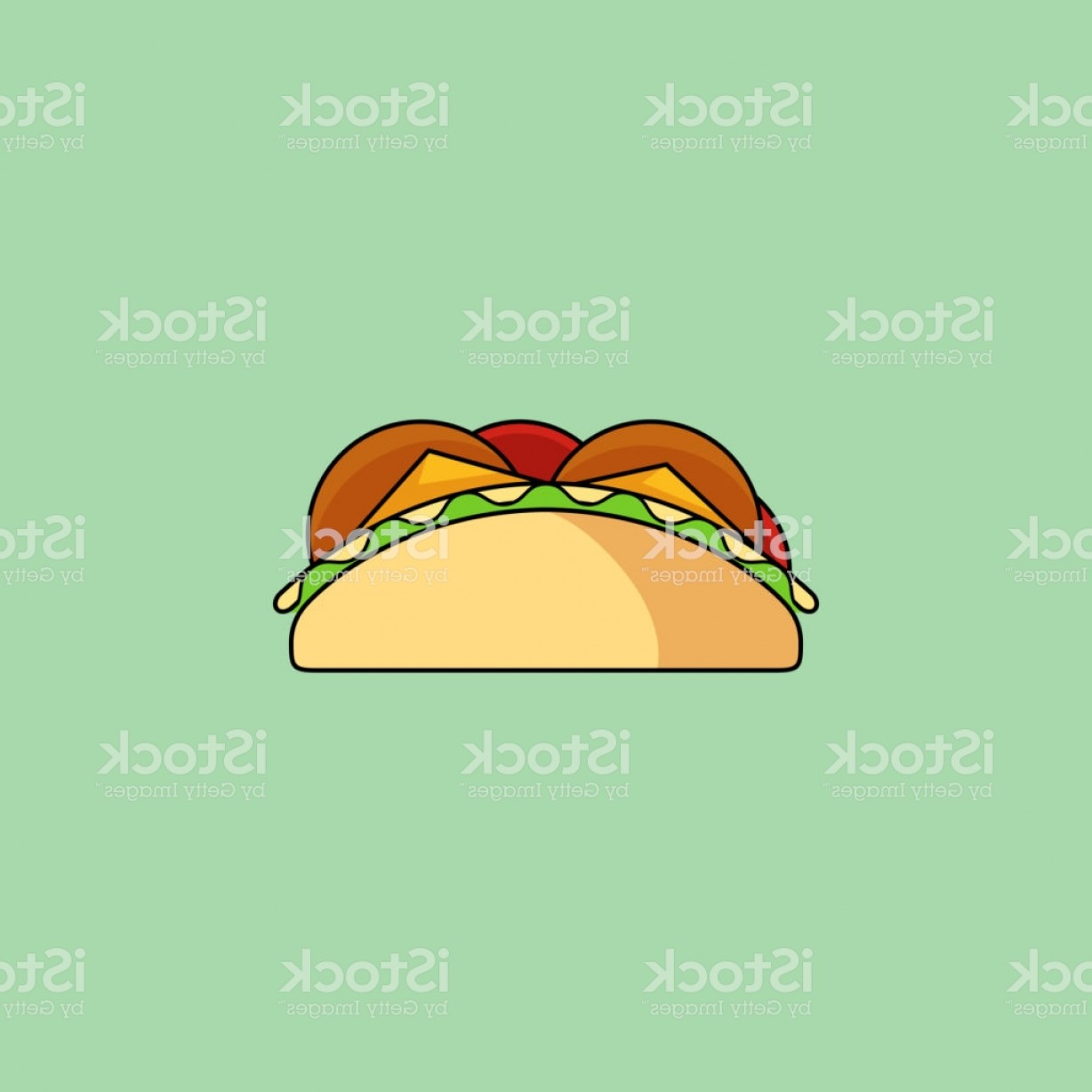 Steak Taco Vector Art: Tacos And Burrito Line Icon Gm