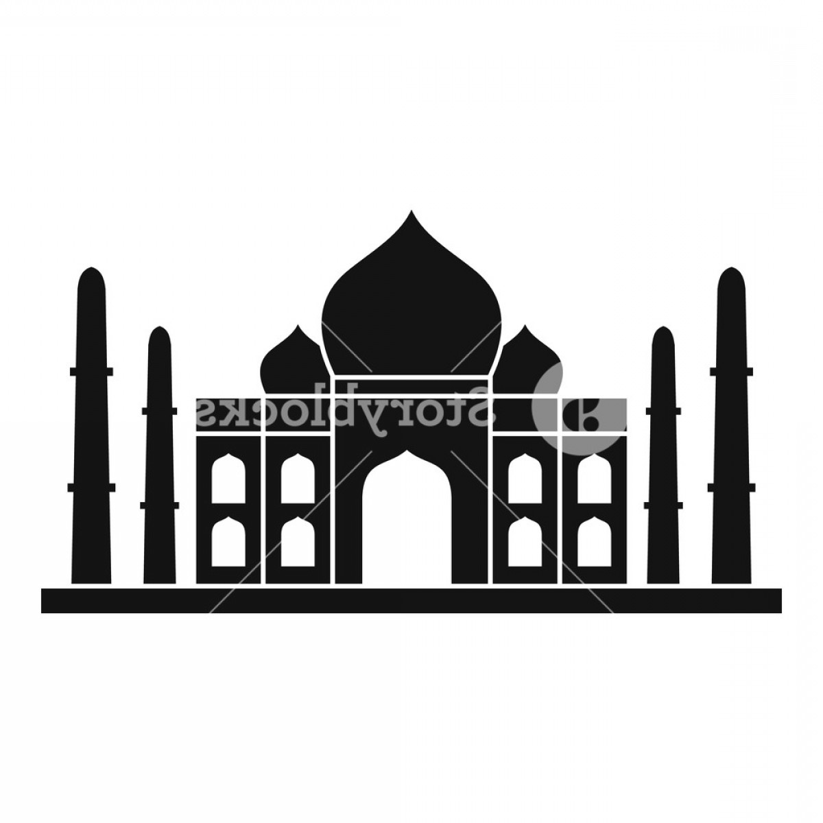 Taj Mahal Vector: Taj Mahal Icon Simple Illustration Of Taj Mahal Vector Icon For Web Huvlmwr Gmjhzacnj