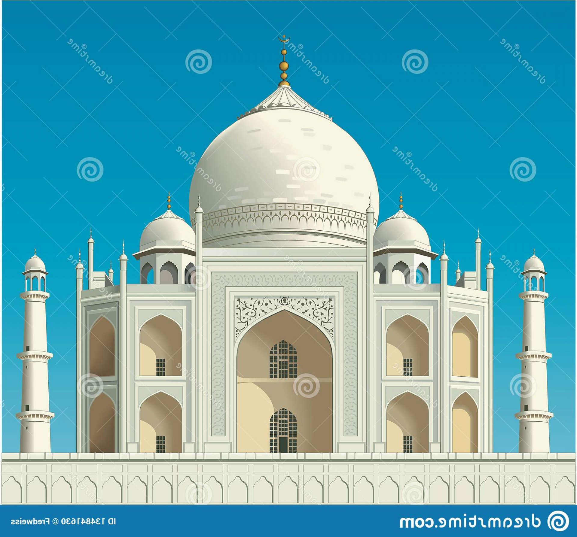 Taj Mahal Vector: Taj Mahal Vector Illustration Vector Illustration Taj Mahal Agra India Image