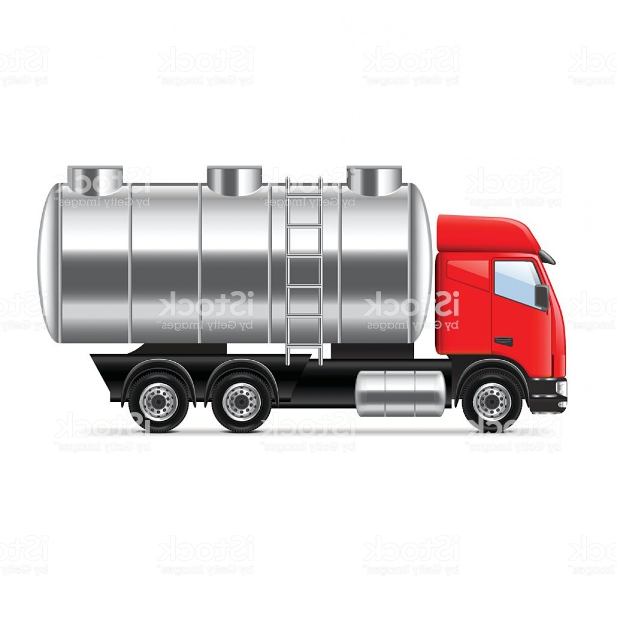 Tank Trucks Vector Art: Tank Truck Isolated On White Vector Gm