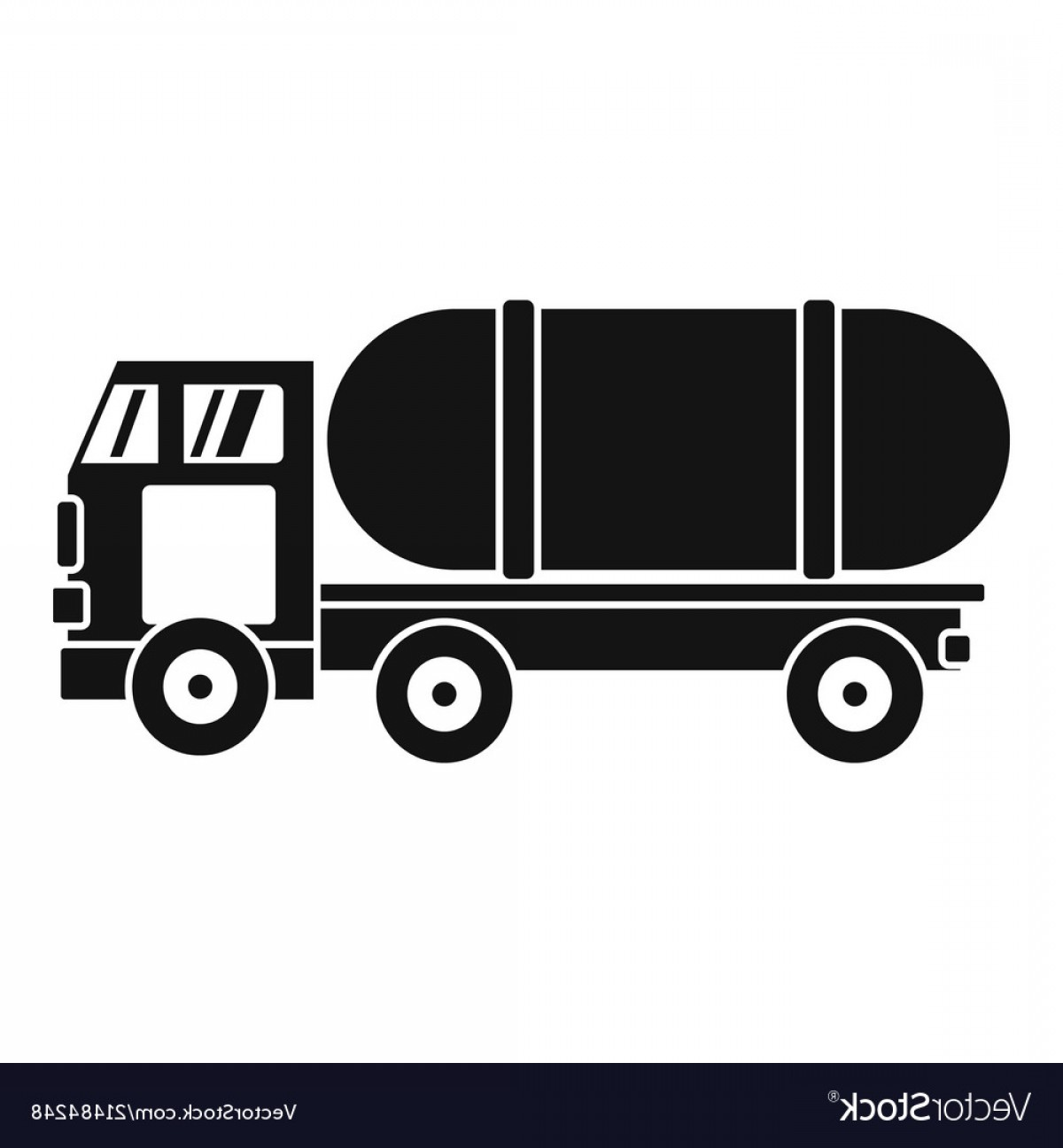 Tank Trucks Vector Art: Tanker Truck Icon Simple Style Vector
