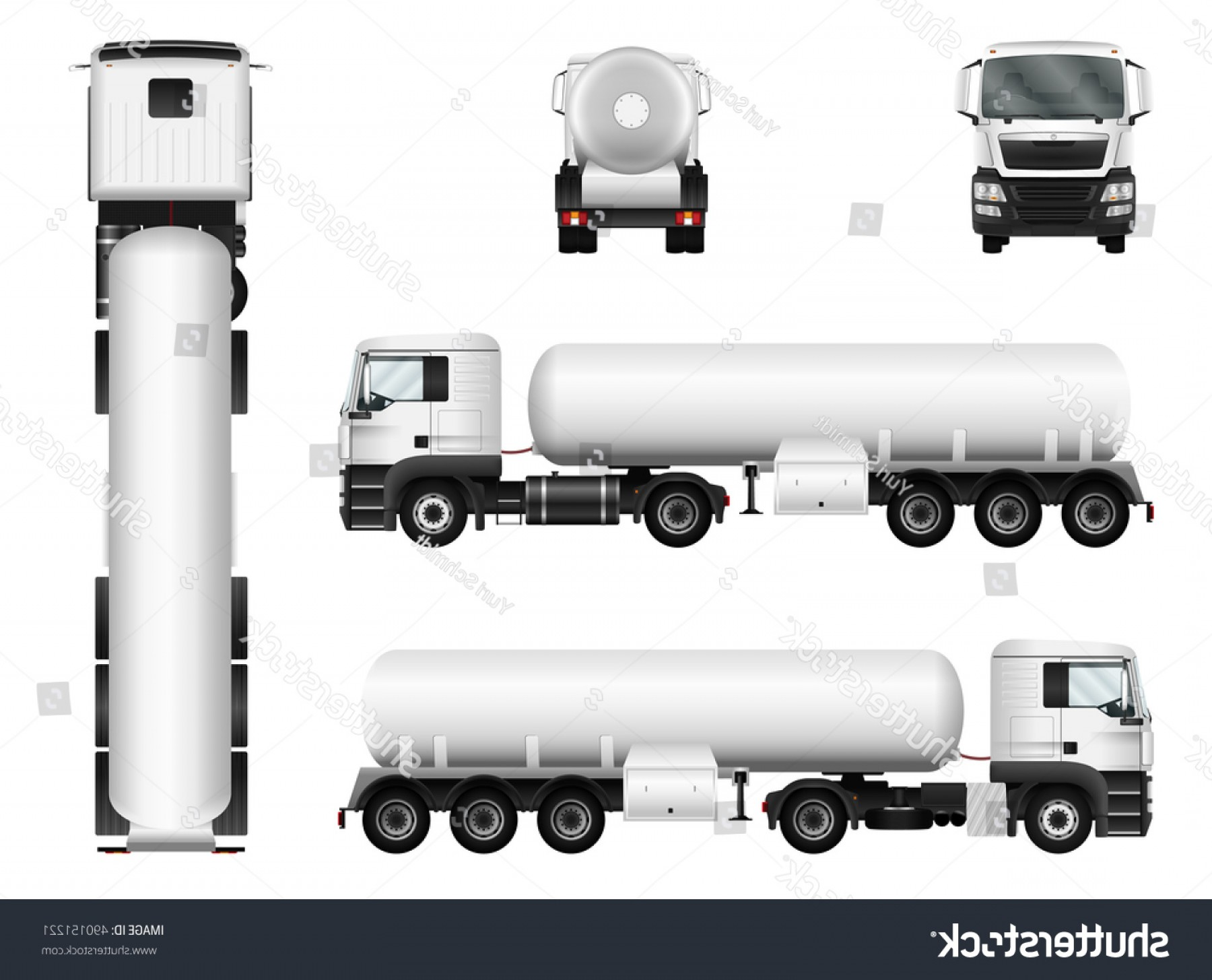 Vector Semi Tanker: Tanker Truck Vector Mock Advertising Corporate