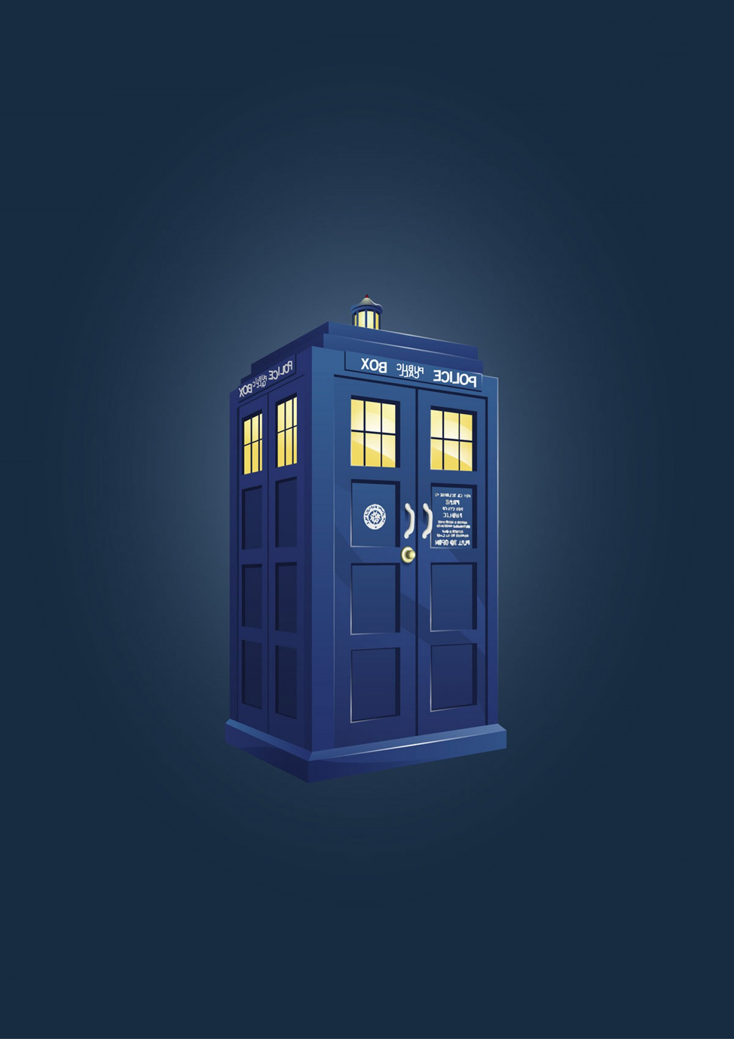 Vector Police Box: Tardis From Dr Who Police Box Vector