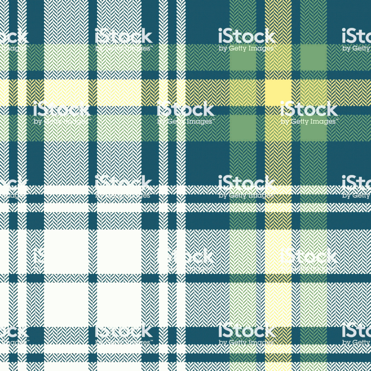 Plaid Vector: Tartan Pattern Scottish Seamless Check Plaid Vector Graphic In Dark Blue Green Gold Gm