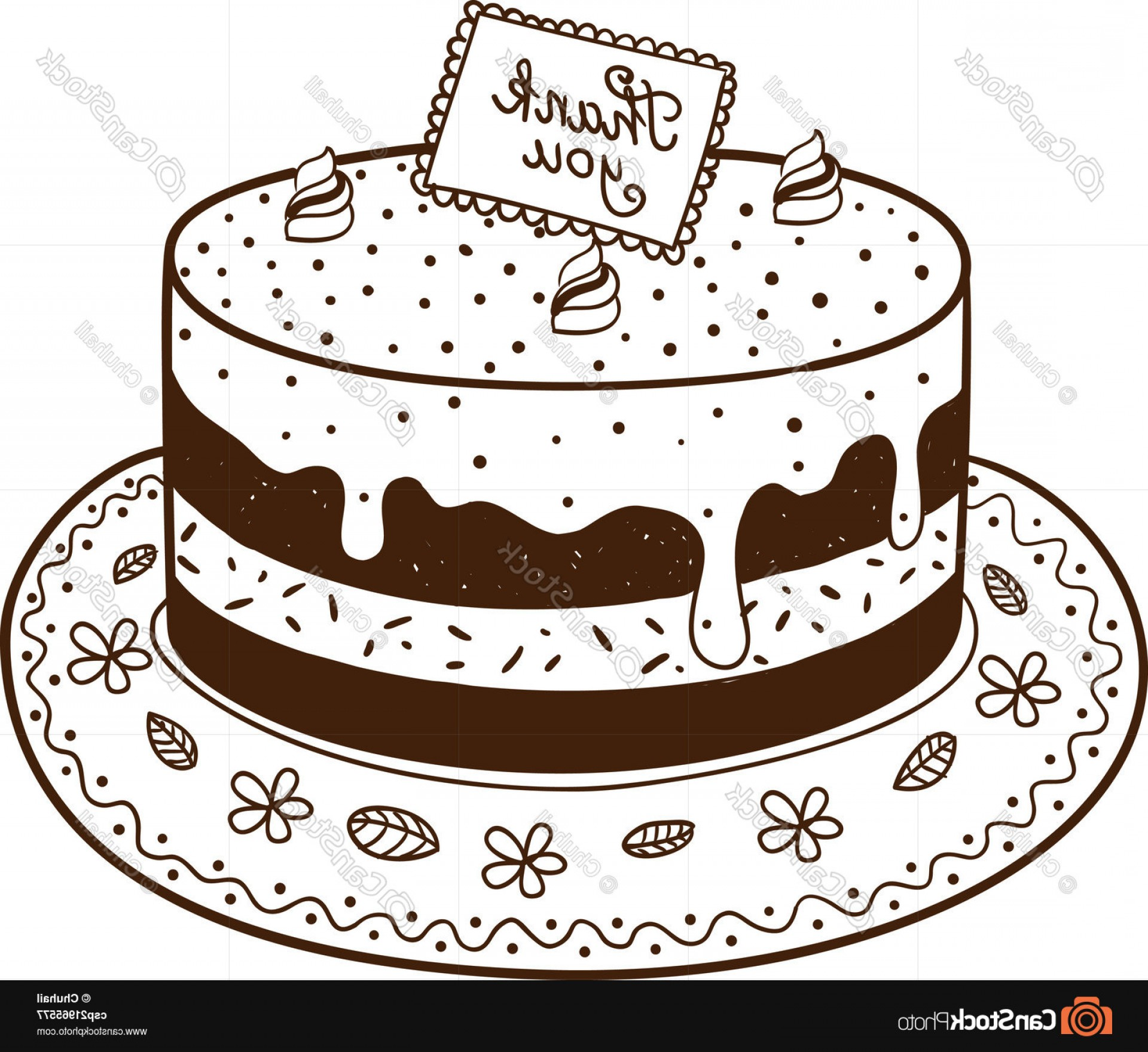 Nameplate Vector Graphics: Tasty Cake Pie With Thanksgiving