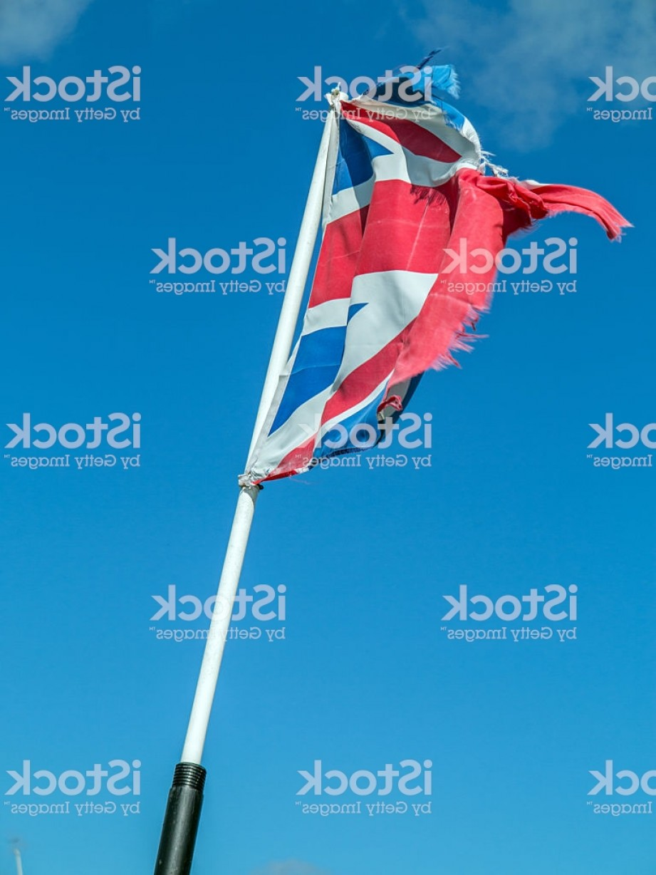 Union Jack Flag Tattered Vector: Tattered Union Jack Flapping In The Wind Gm