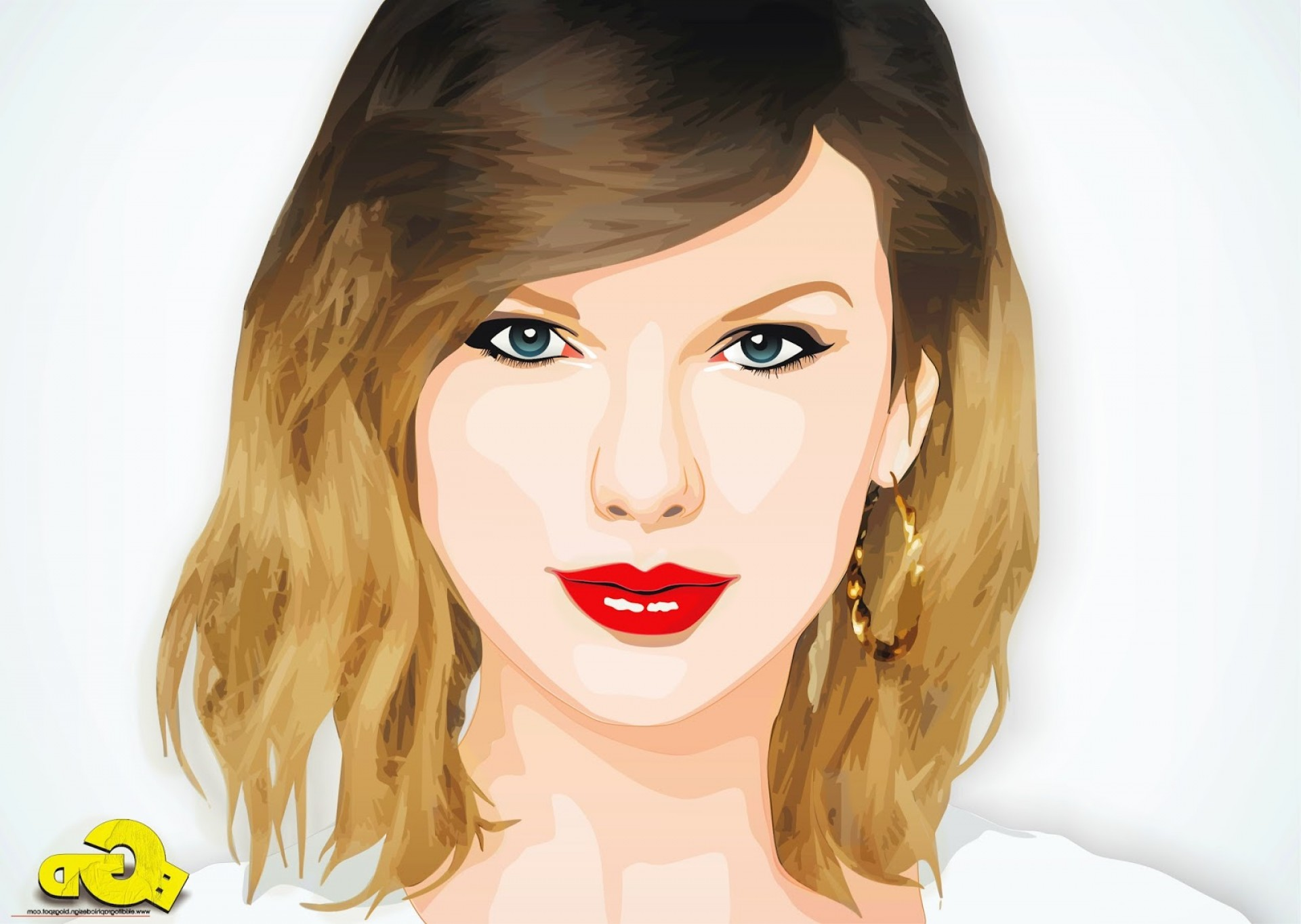 Vector In Photoshop CS5: Taylor Swift On Vector Cartoon