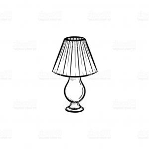 Vector Table With Lamp: Stock Illustration Table Lamp Vector Icon