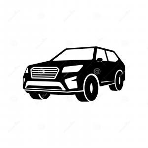 SUV Outline Vector: Tahoe Suv Vehicle Template