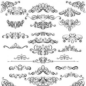 Vector Gothic Filagree: Tapered Scroll Set