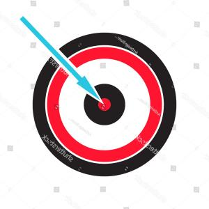 Small Arrow Vector: Target Logo Design Small Round Shield