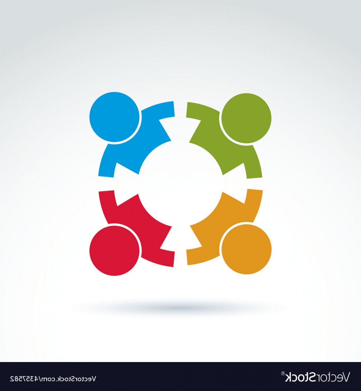 Friendship Symbol Vector: Teamwork And Business Team And Friendship Icon Vector