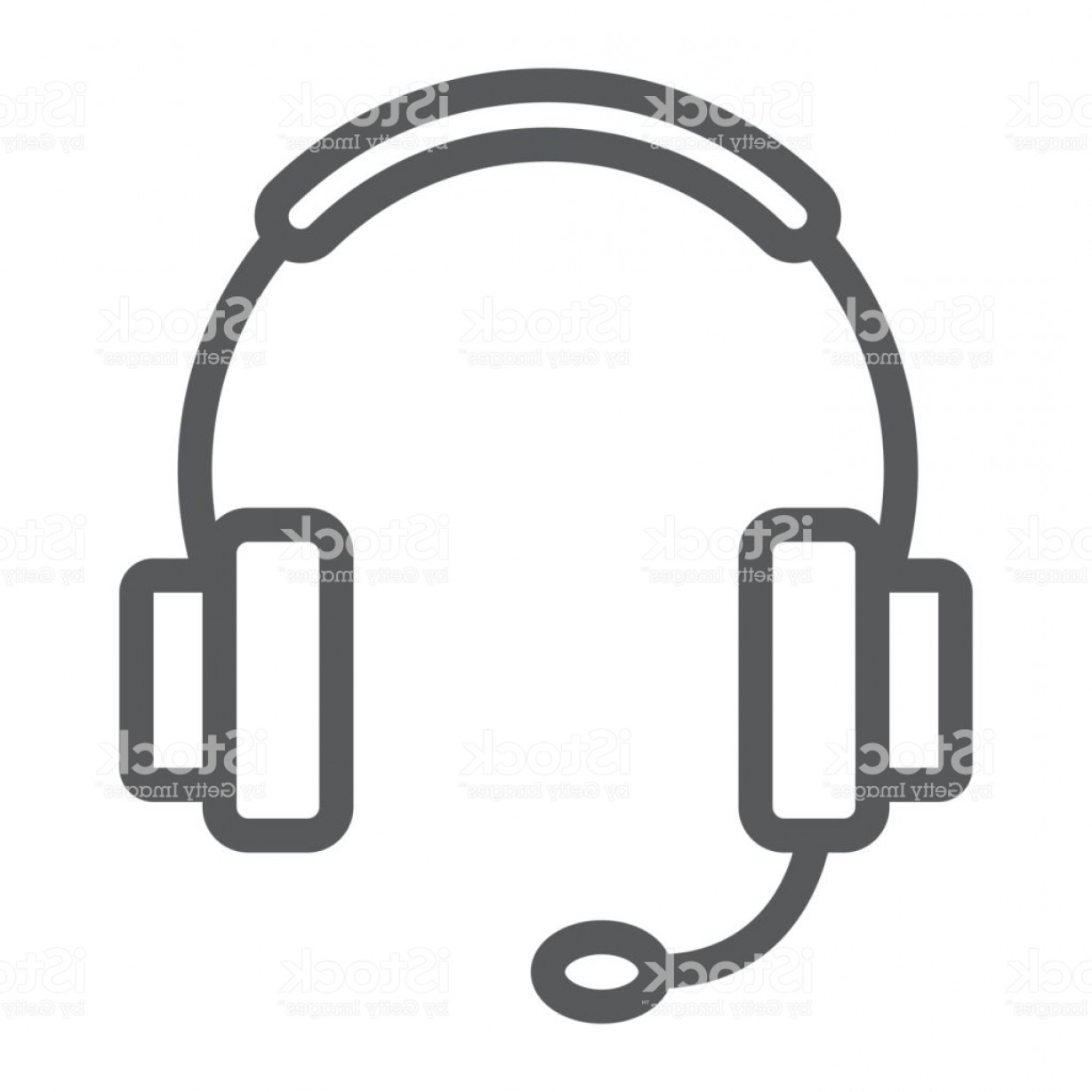 Support Vector Graphics: Tech Support Line Icon E Commerce And Marketing Headset Sign Vector Graphics A Gm