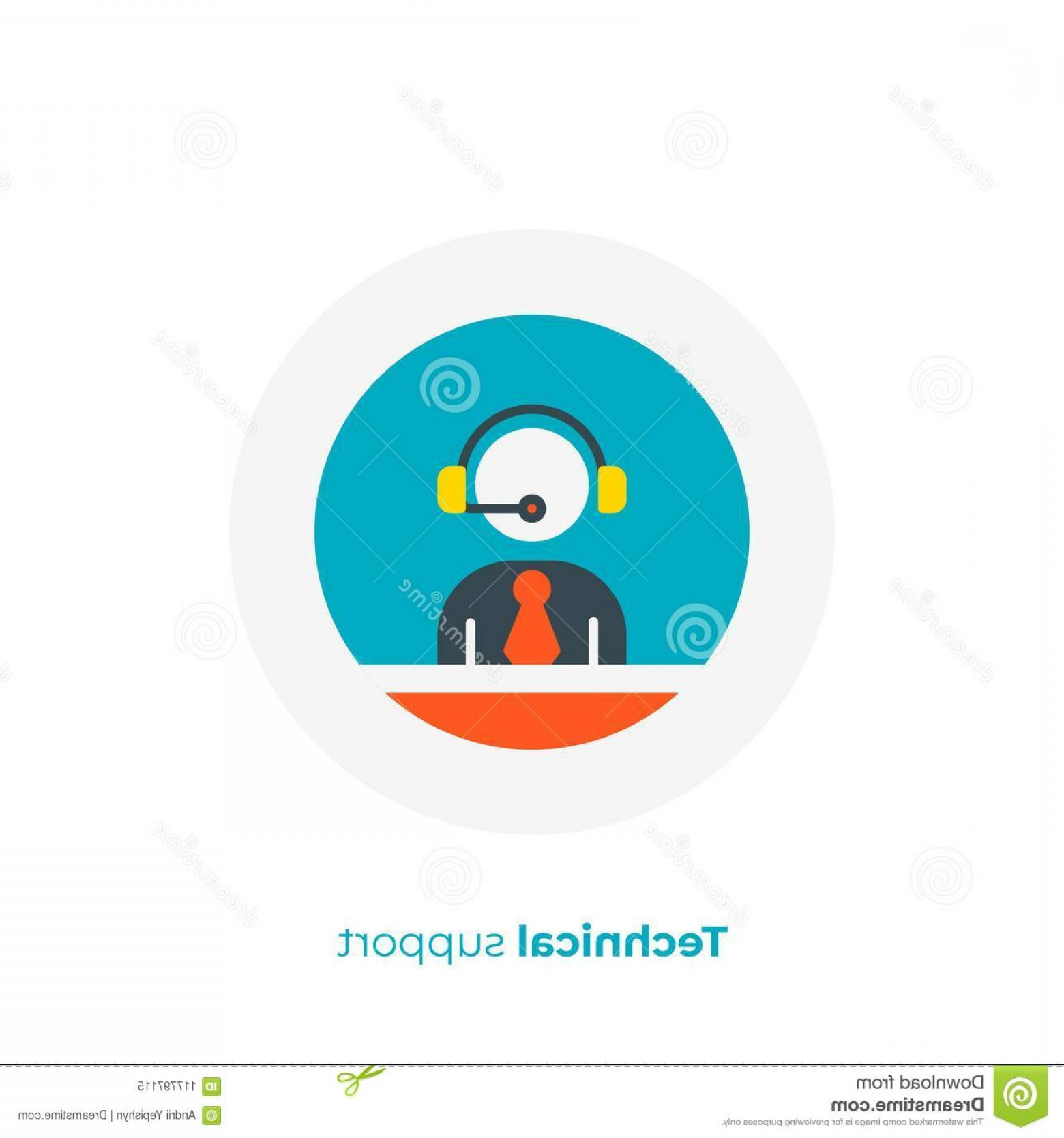 Support Staff Vector: Technical Support Staff Flat Art Vector Icon Flat Art Stick Support Business Assistance Scalable Vector Icon Modern Cartoon Image