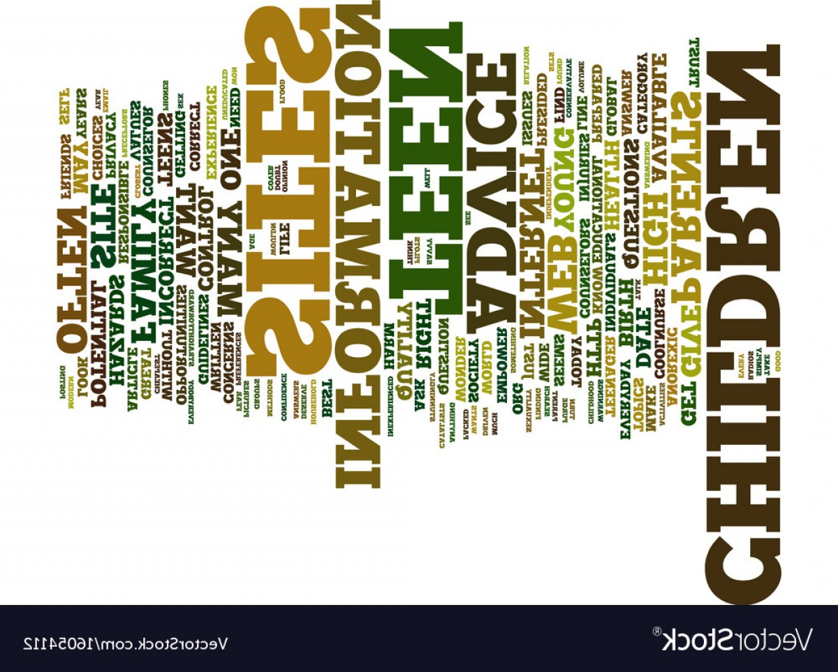 Vector Straightforward: Teen Advice On Line Text Background Word Cloud Vector