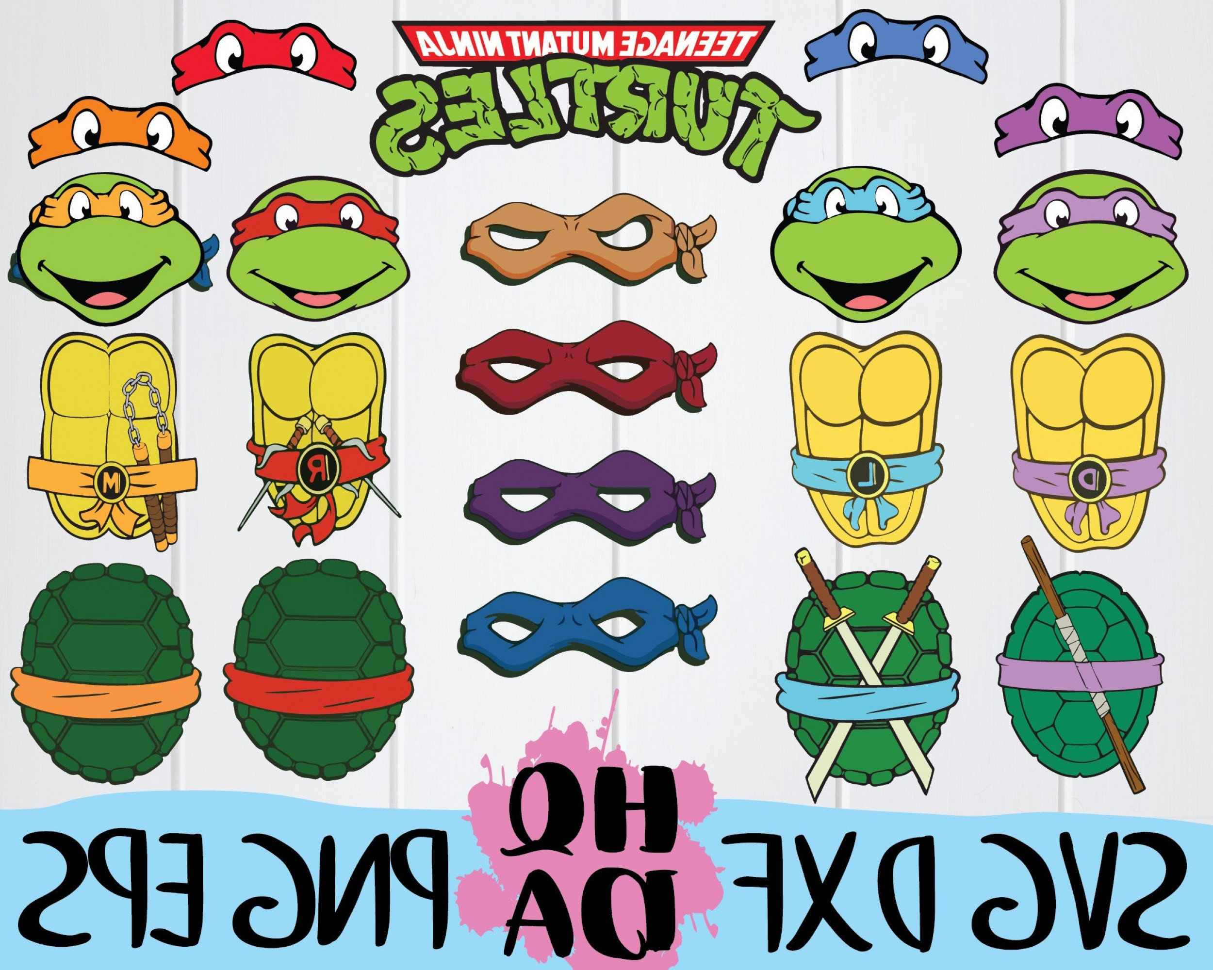 TMNT Logo Vector: Teenage Mutant Ninja Turtles Svg Cut