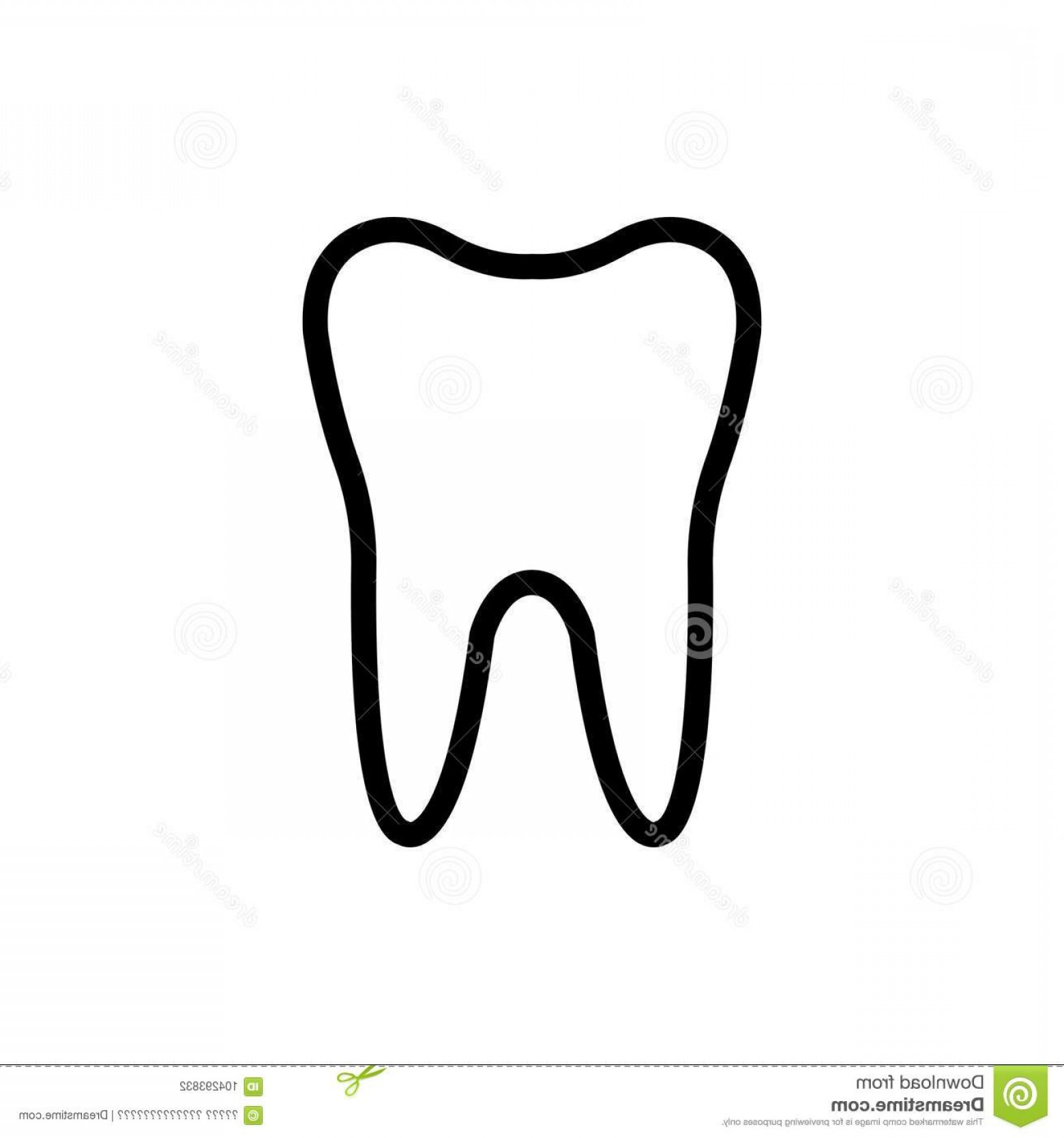 Tooth Outline Vector: Teeth Flat Icon Tooth Line High Quality Black Outline Logo Web Site Design Mobile Apps Vector Illustration White Image