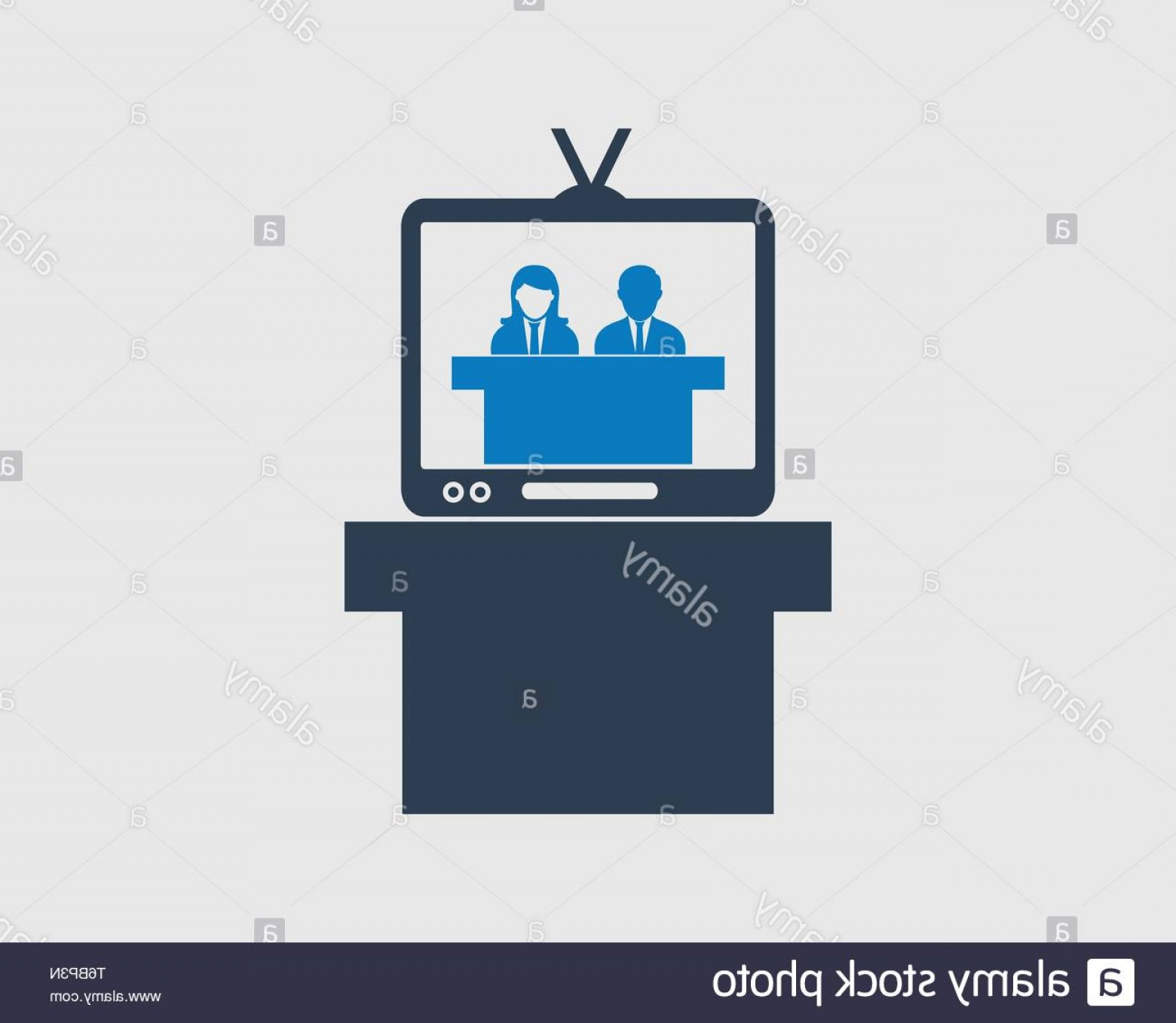 Talk Show Vector: Television Talk Show Icon On Gray Background Image