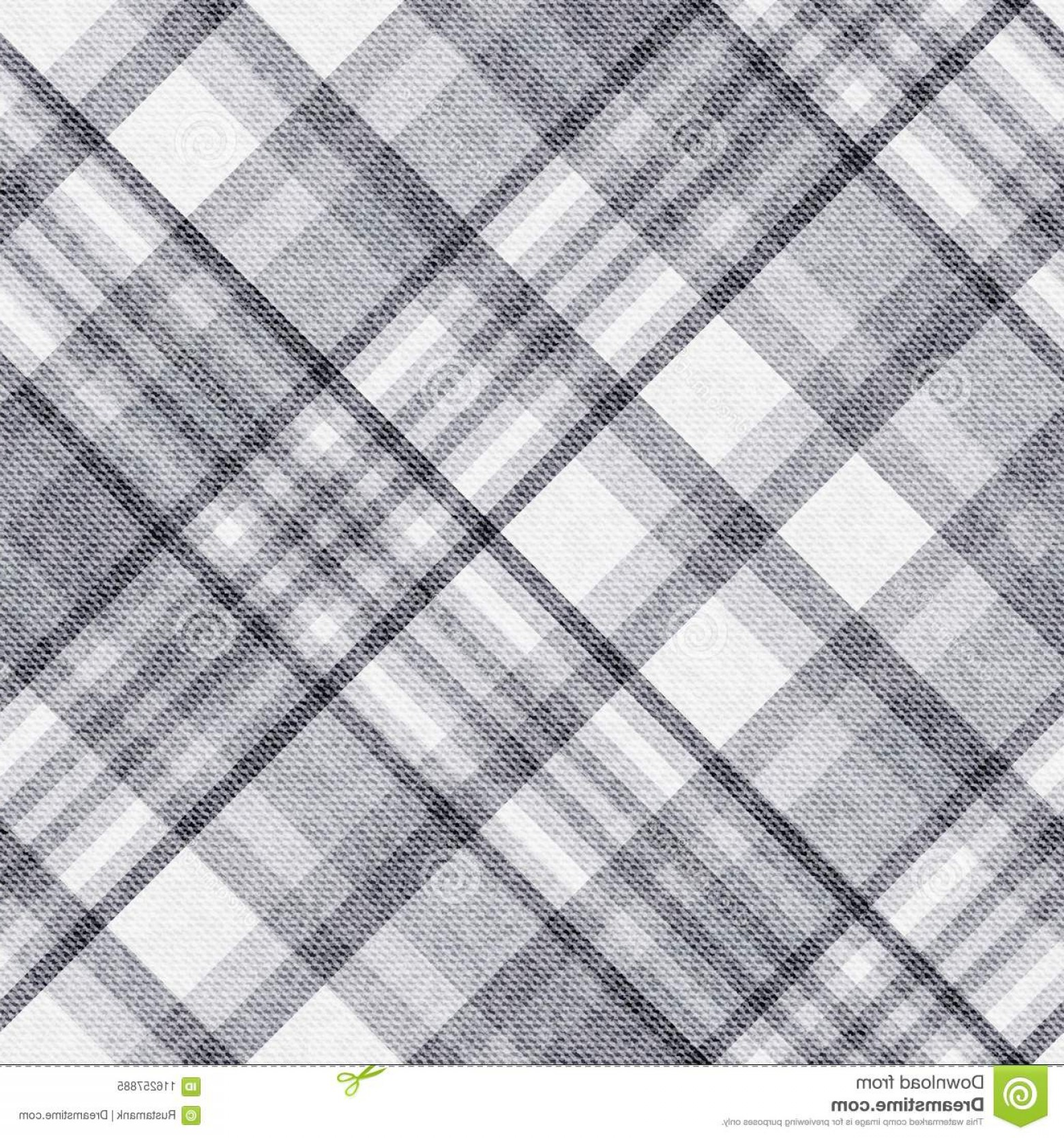 Fabric Vector Background: Template Checkered Seamless Background Plaid Fabric Vector Image