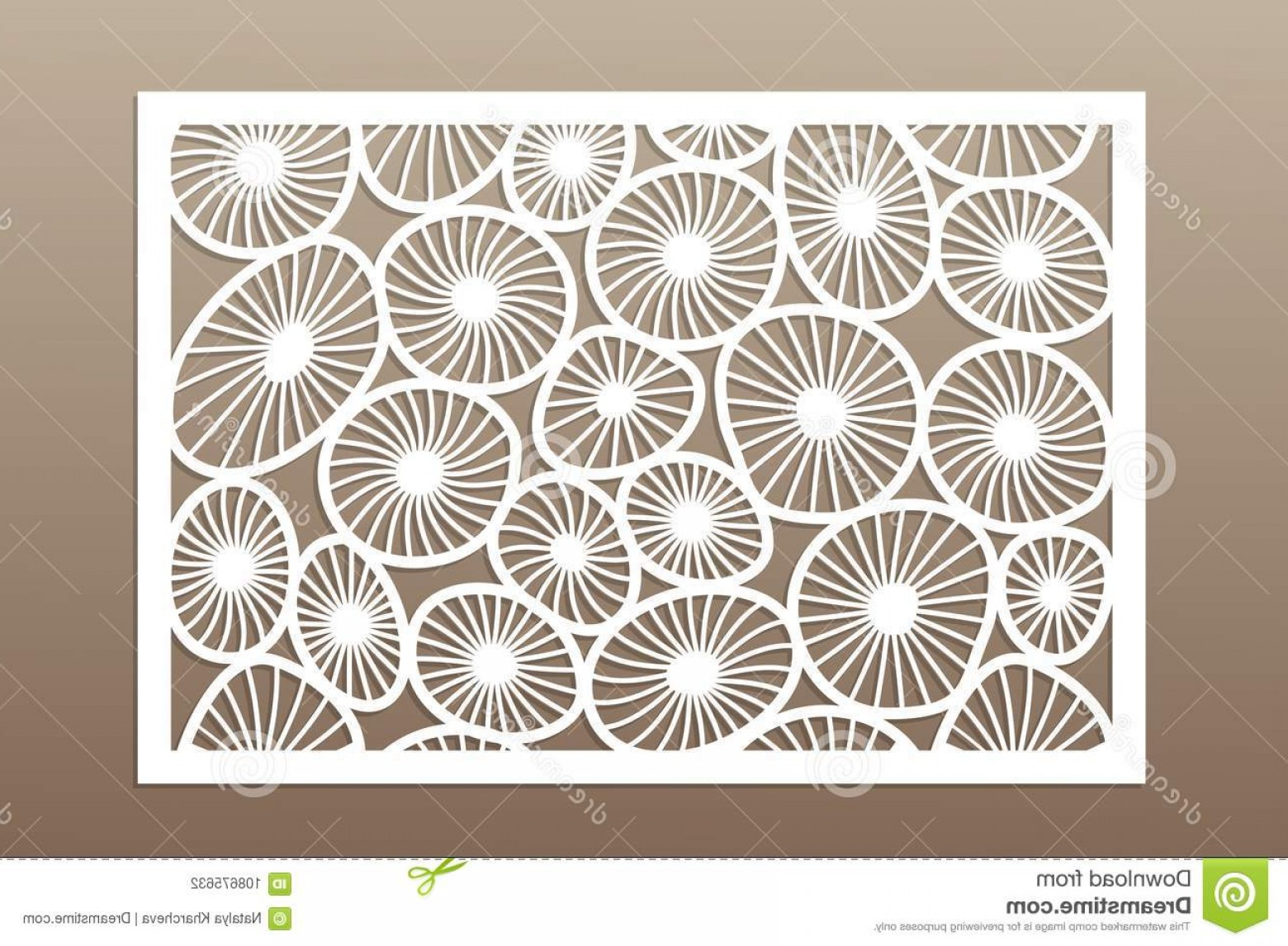 Laser Vector Art: Template Cutting Round Art Pattern Laser Cut Set Ratio Vector Illustration Template Cutting Round Art Pattern Laser Cut Image