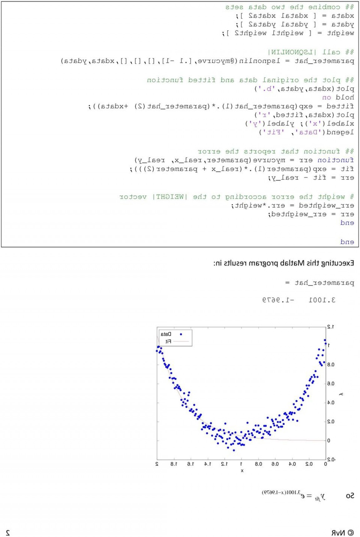 Combine Two Vectors MATLAB: Template For Parameter Estimation With Matlab Optimization Toolbox Including Dynamic Systems