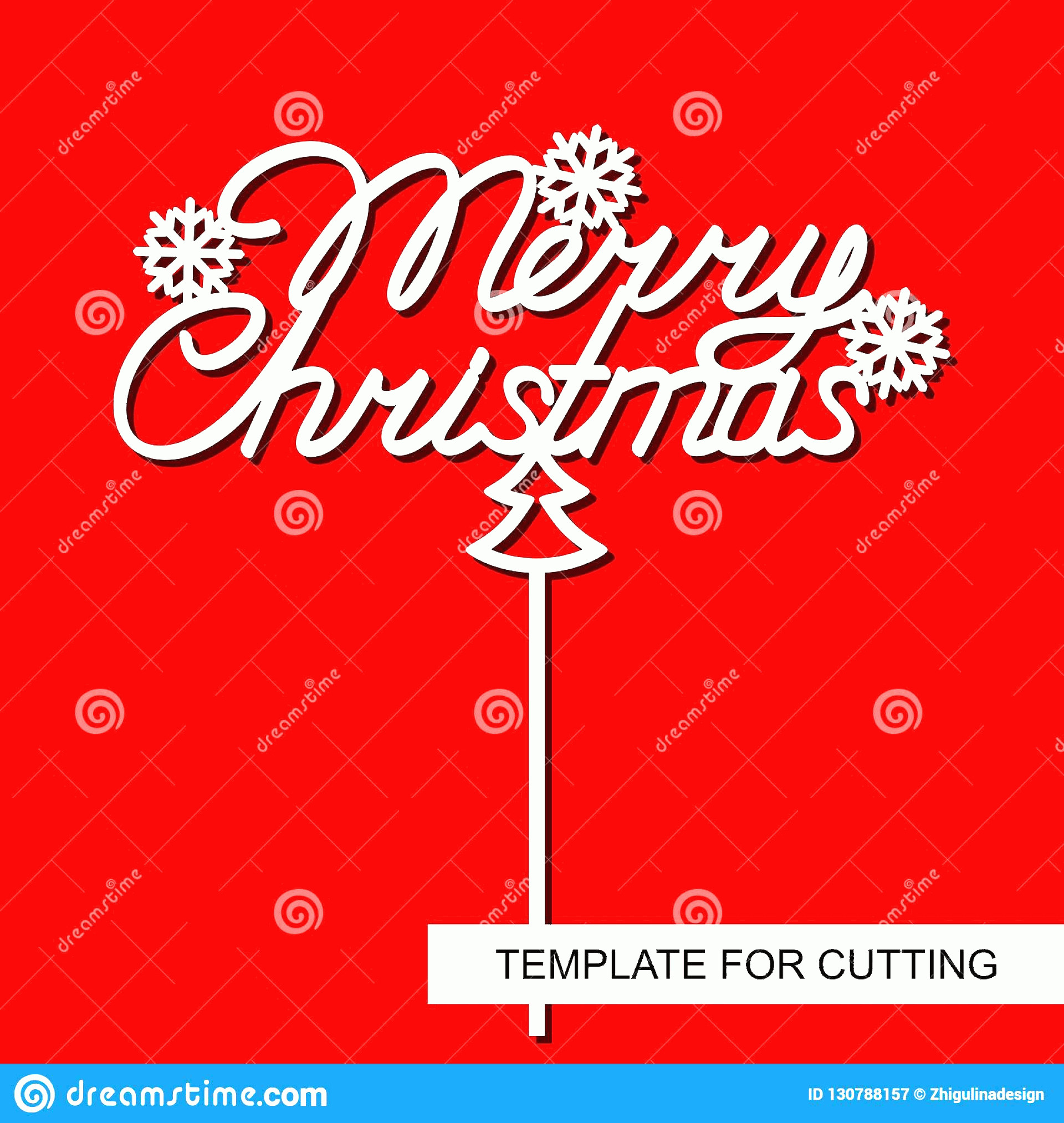 Vector Christmas Toppers: Template Laser Cutting Wood Carving Paper Cut Printing Vector Illustration Topper Cake Merry Christmas Snowflakes Image