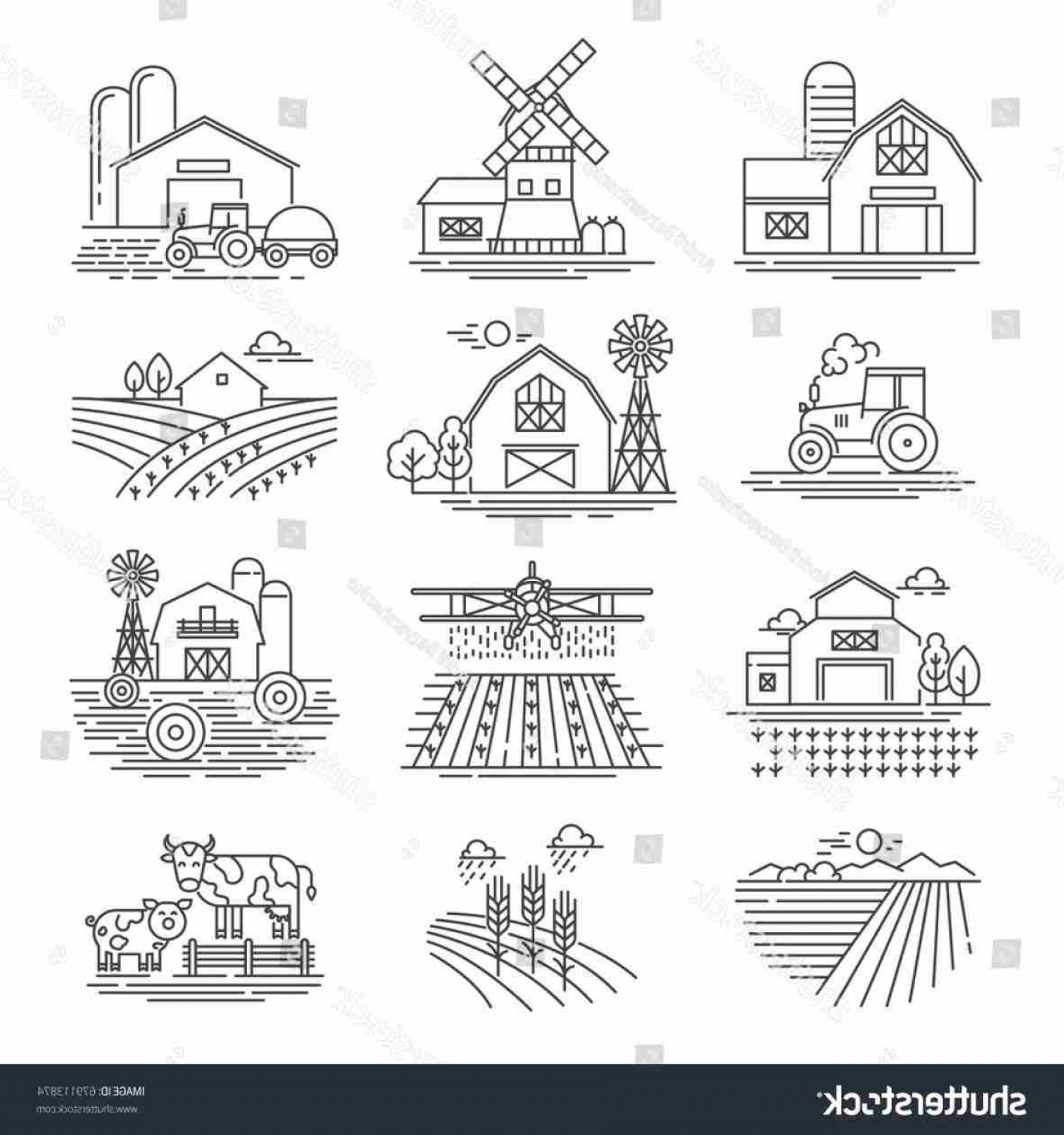 Free Football Vector Clip Art: Template Wheat Barley Stock Vector Football Field Free Download Clip Art Football Farm Fields Clipart Black