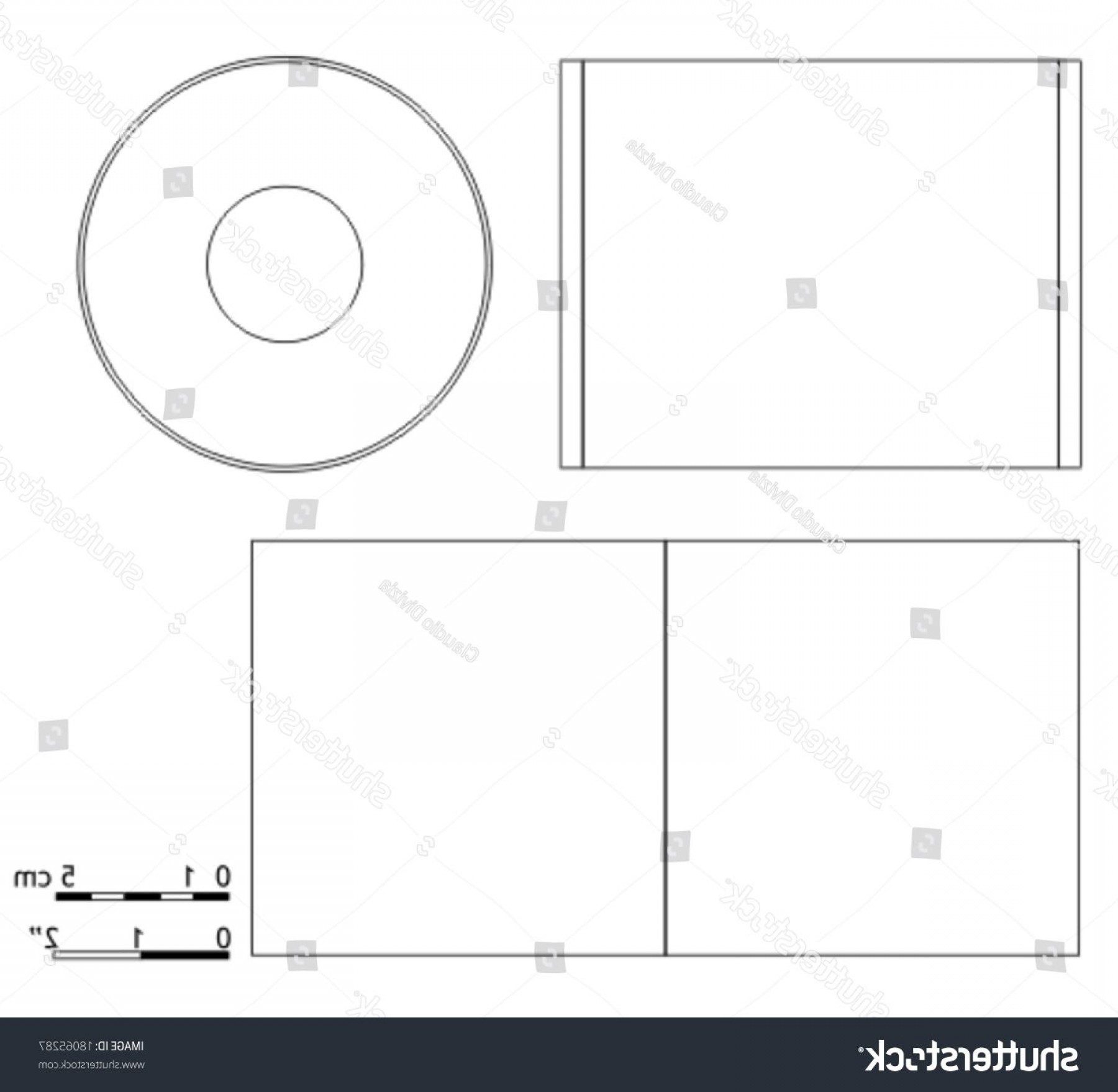 CD Label Template Vector: Templates For Cd Labels Example Blank Cd Dvd Cover Template Stock Vector Shutterstock