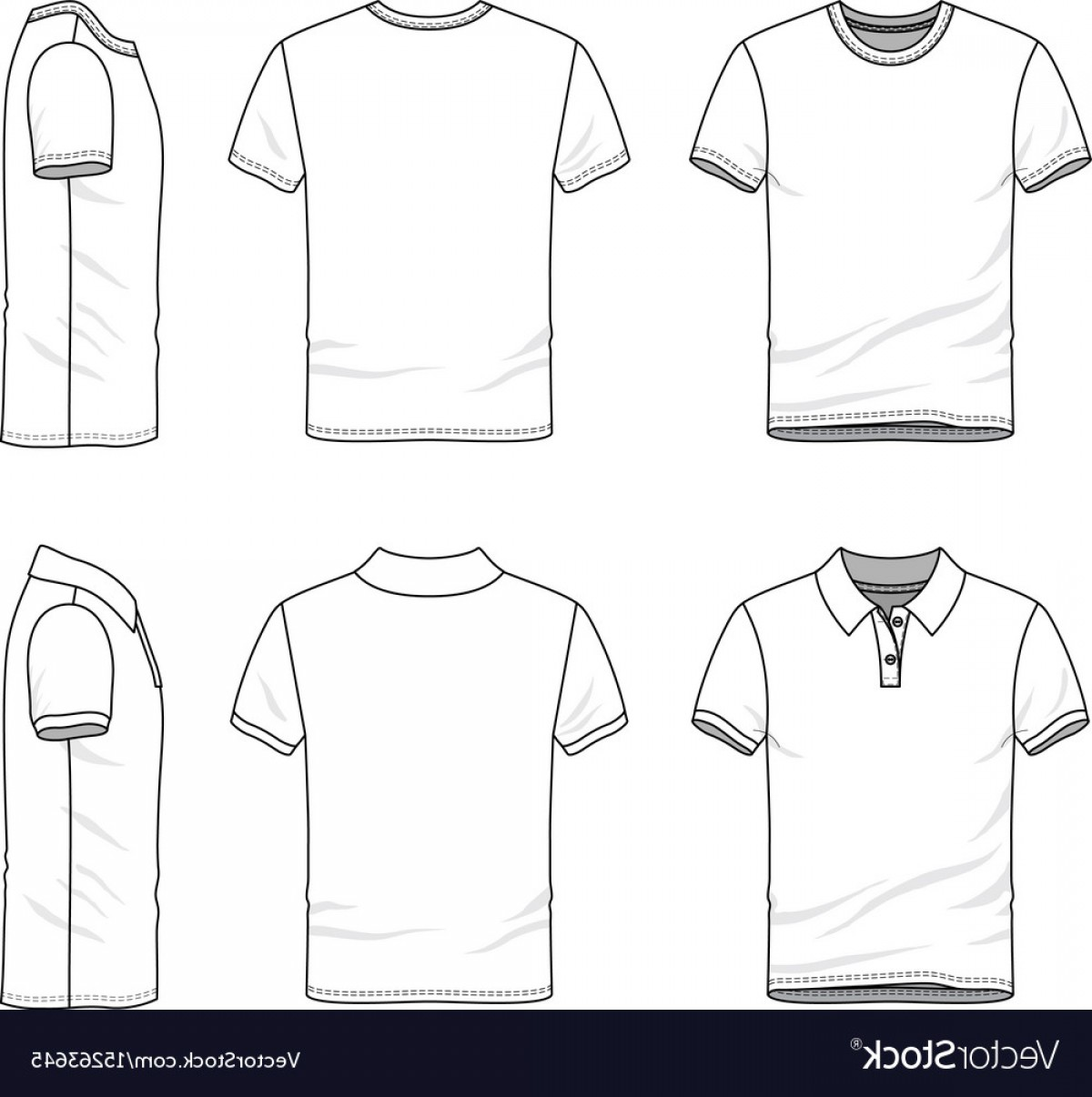 Sweatshirt Vector Template: Templates Of T Shirt And Polo Shirt Vector