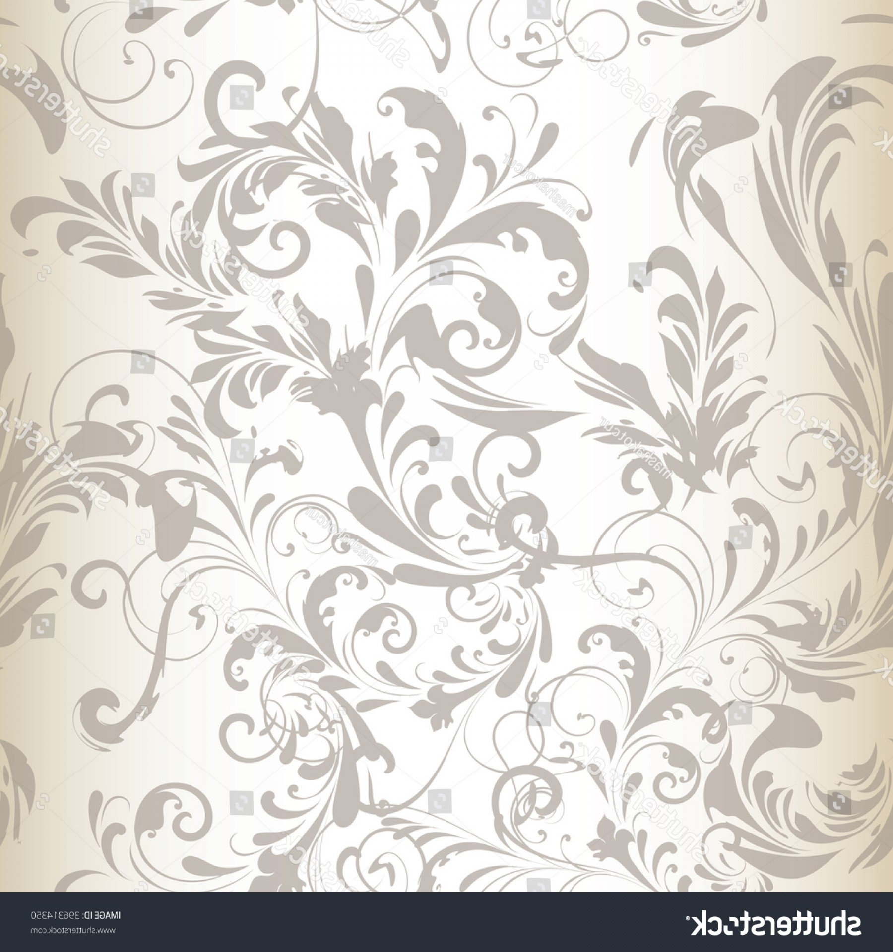 Vector Flourish Backgrounds: Tender Vector Seamless Pattern Background Swirl