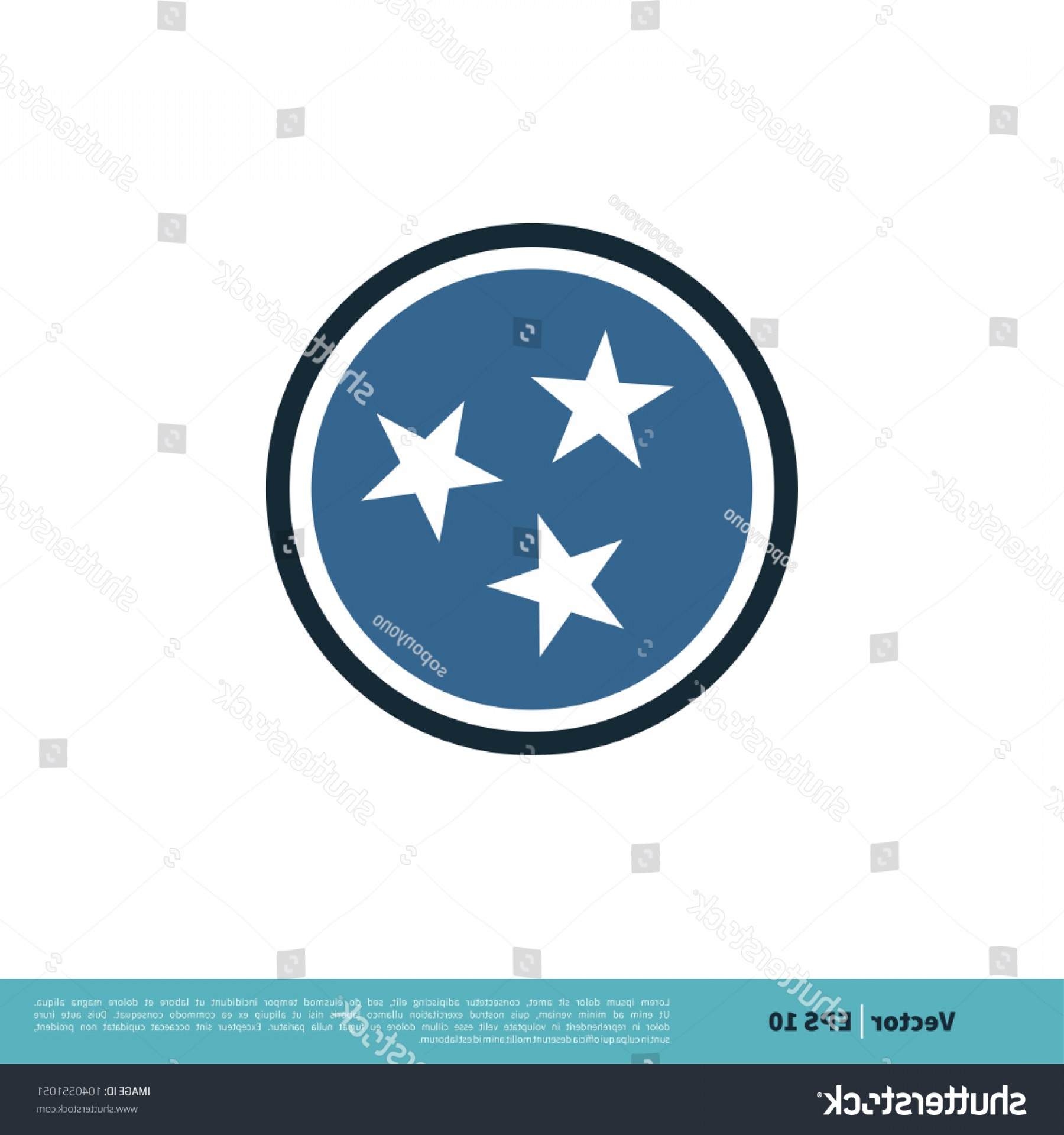 Tennessee Flag Vector: Tennessee Flag Icon Vector Logo Template