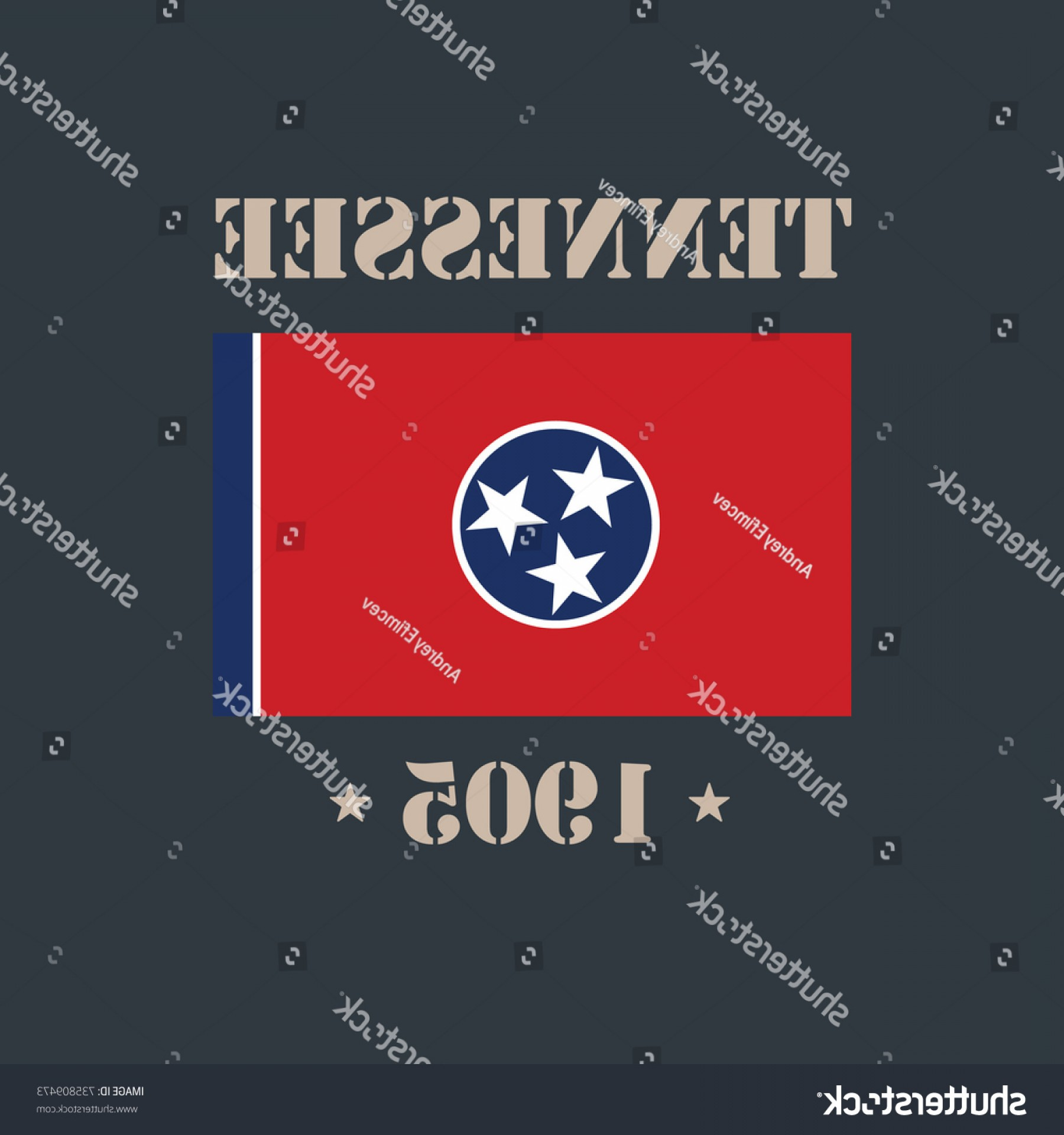 Tennessee Flag Vector: Tennessee Flag Tshirt Design Vector