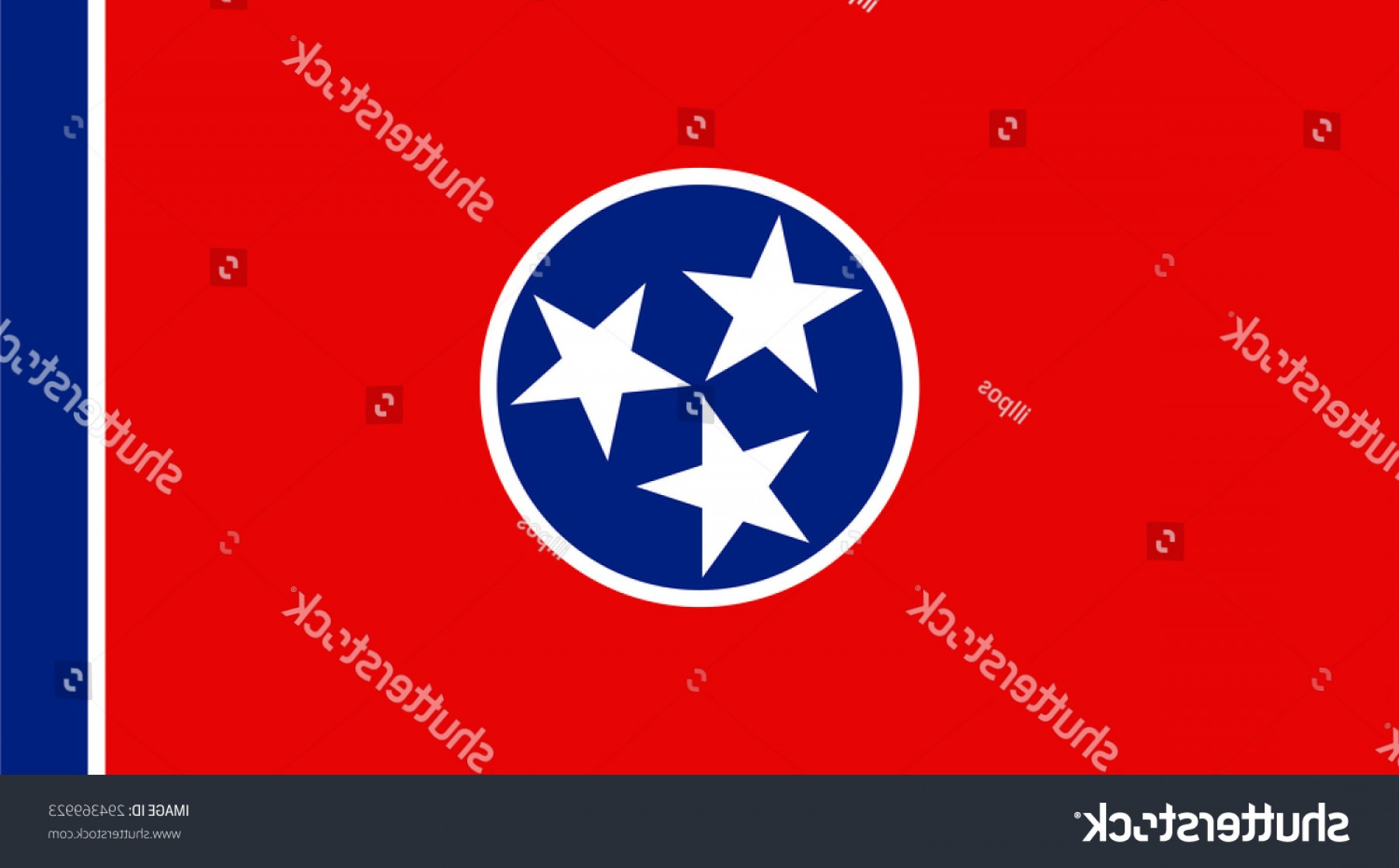 Tennessee Flag Vector: Tennessee State National Flag Vector Eps