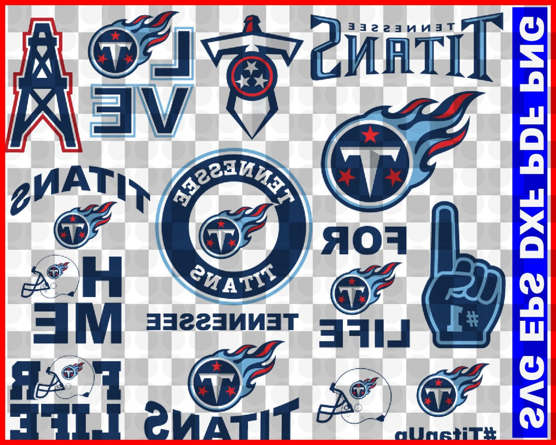 NFL Team Logos Vector SVG: Tennessee Titans Svg Png Jpeg Dxf Eps