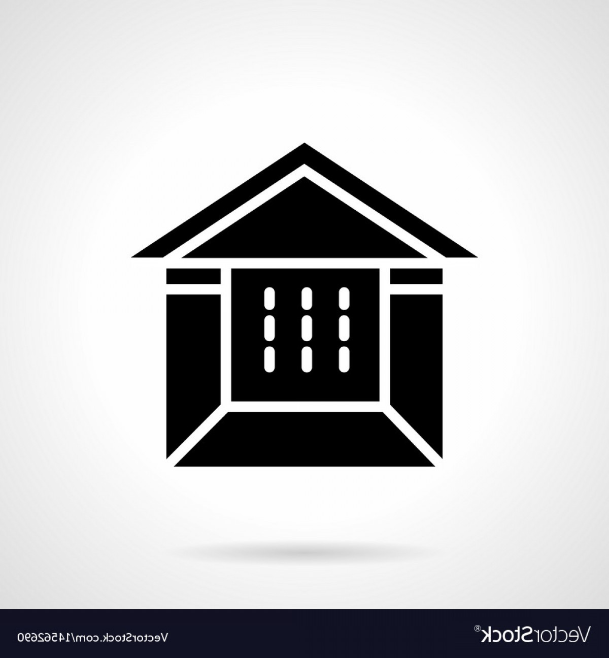 Commercial Booth Vector: Tent Booth Glyph Style Icon Vector