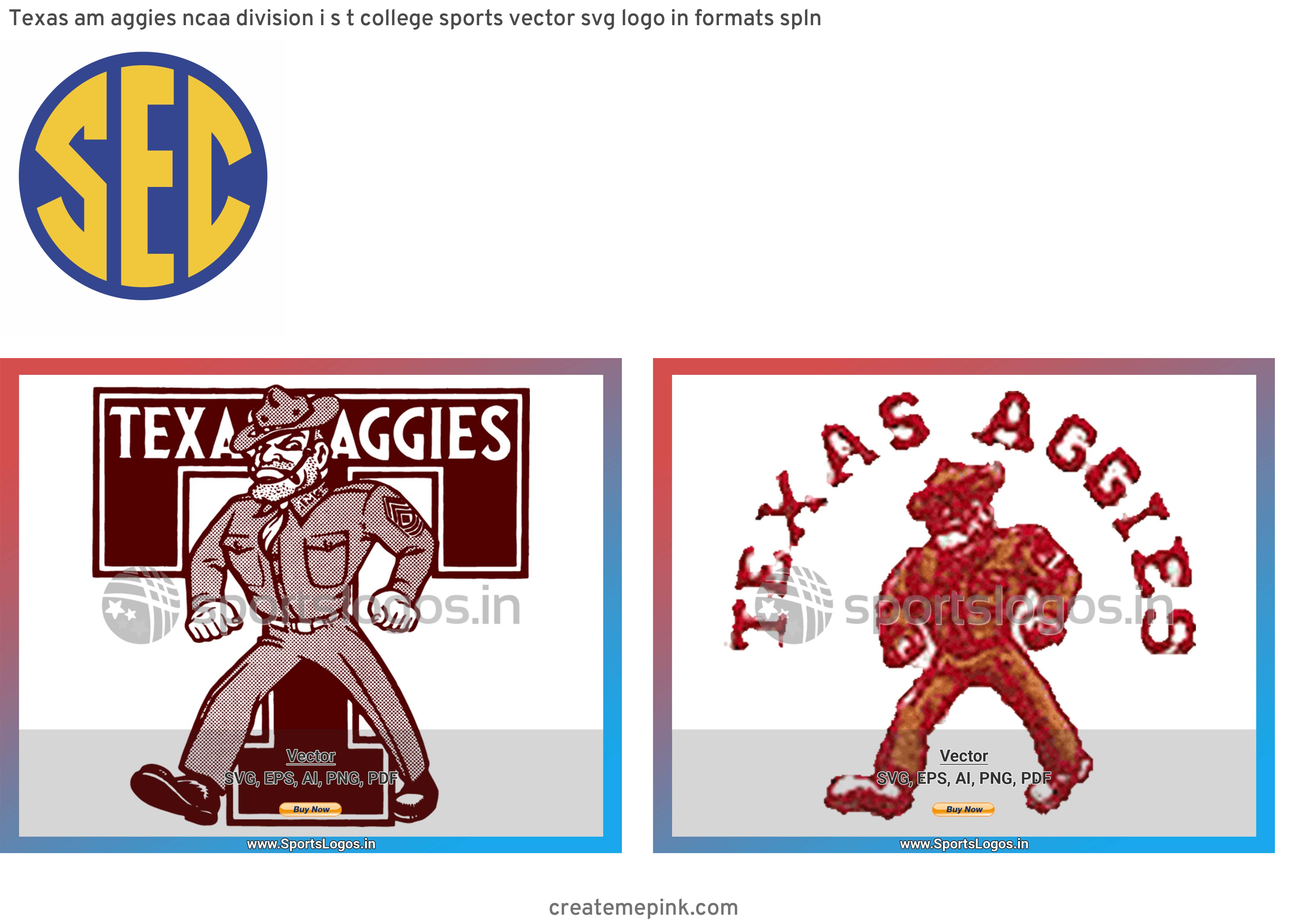 ATM Aggies Vector: Texas Am Aggies Ncaa Division I S T College Sports Vector Svg Logo In Formats Spln