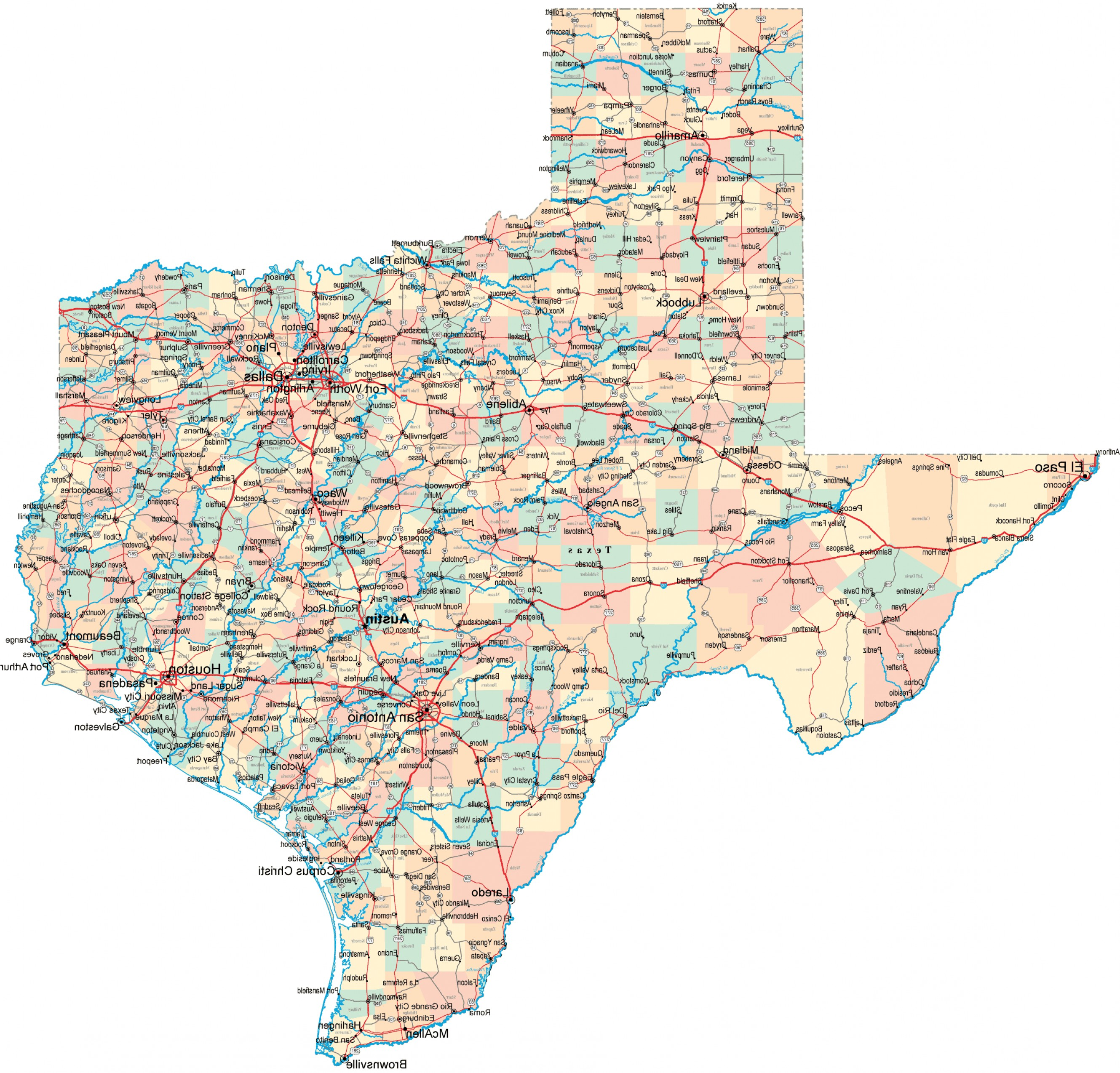 Texas Counties Map Vector: Texas County Map Download Maps Map Of Texas Major Cities