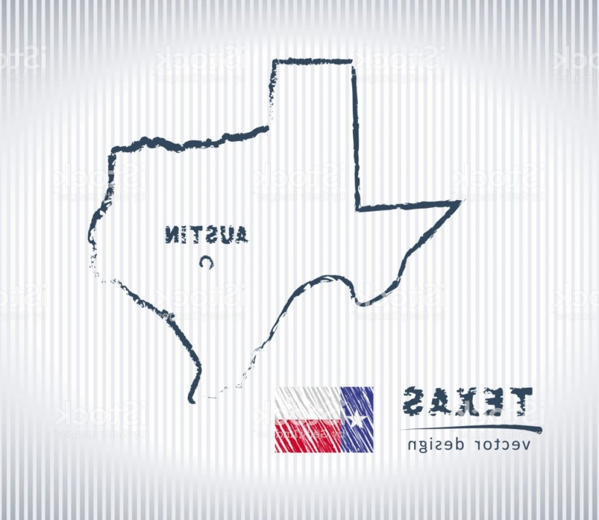 Texas Vector Drawing: Texas National Vector Drawing Map On White Background Gm
